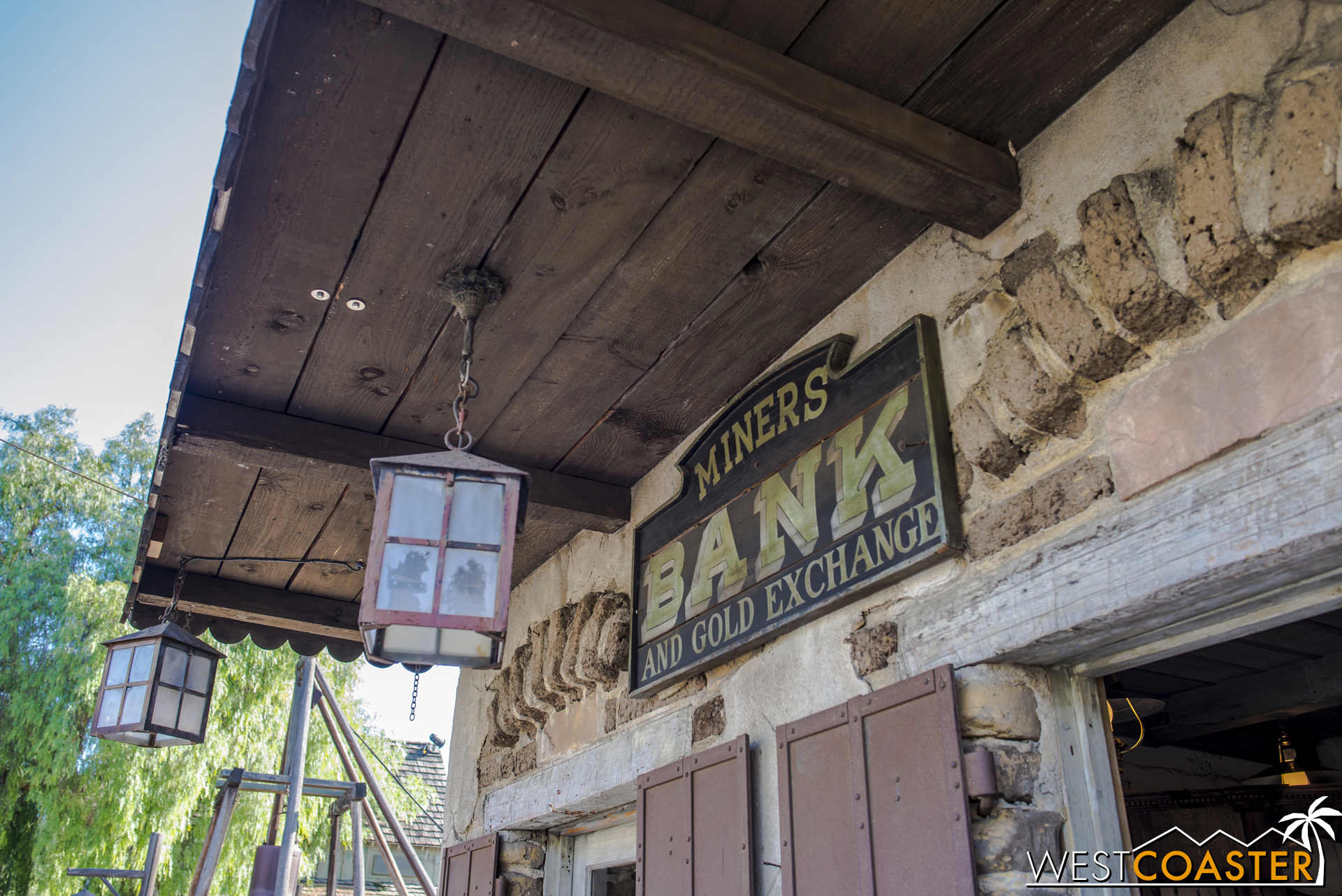 The Miner's Bank was home to one of two robberies earlier in the day, though this one unsuccessful.