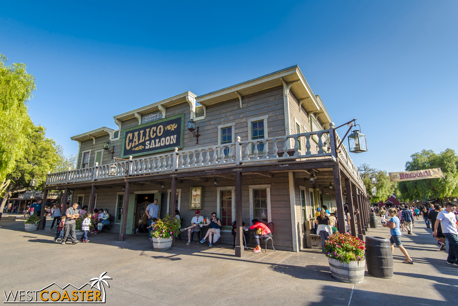 The Calico Saloon is a great place to catch some dancing girls, but more on that later.