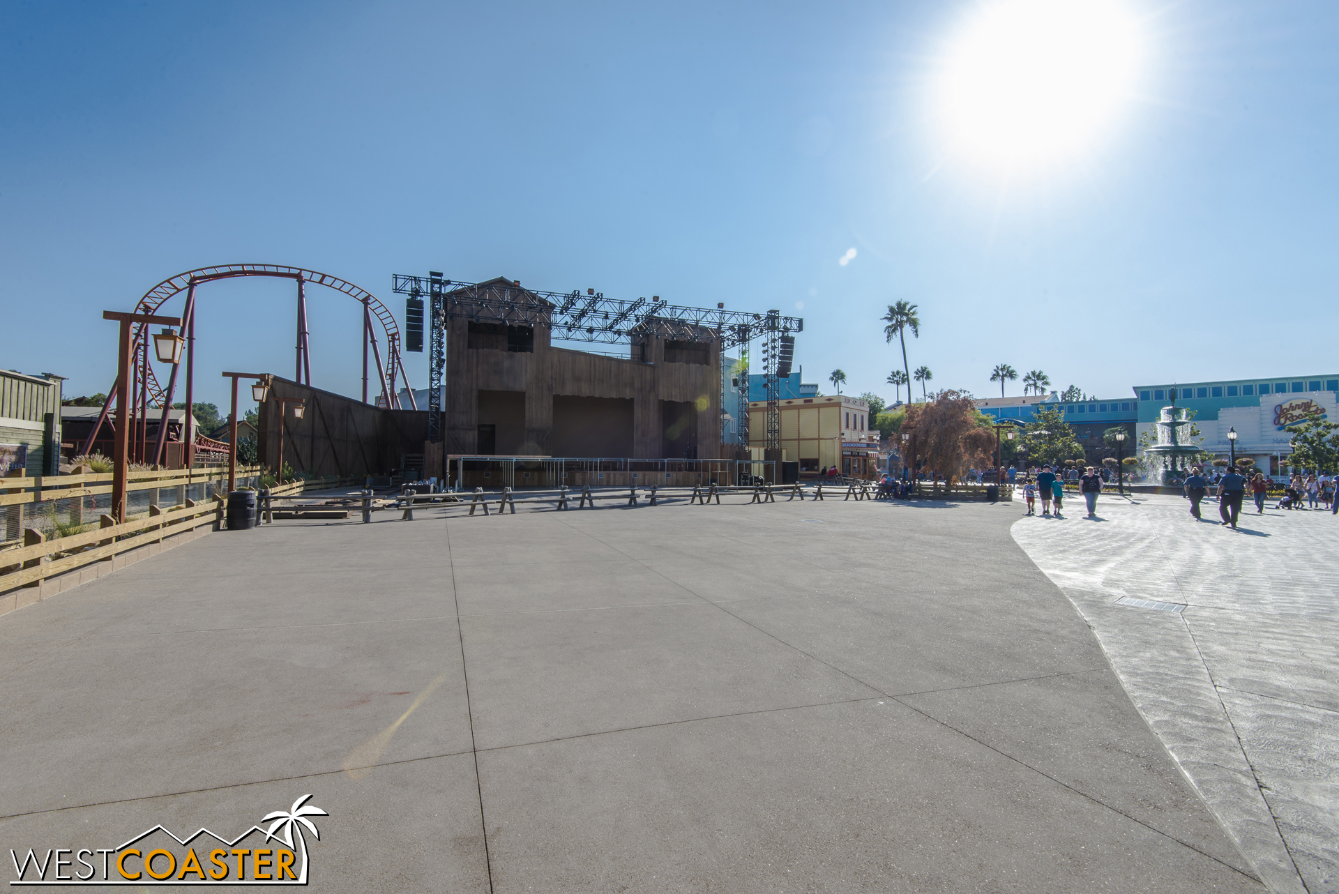 There it is. The new stage is by the first turnaround of Pony Express.