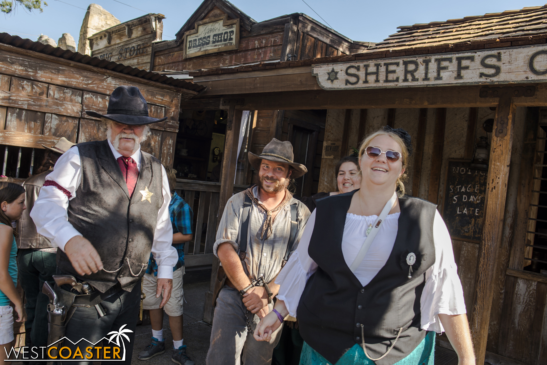 Later in the afternoon, Tiny Mayfield was temporarily released to an honorary citizen deputy and paraded around Calico as an example of the consequences of criminality.