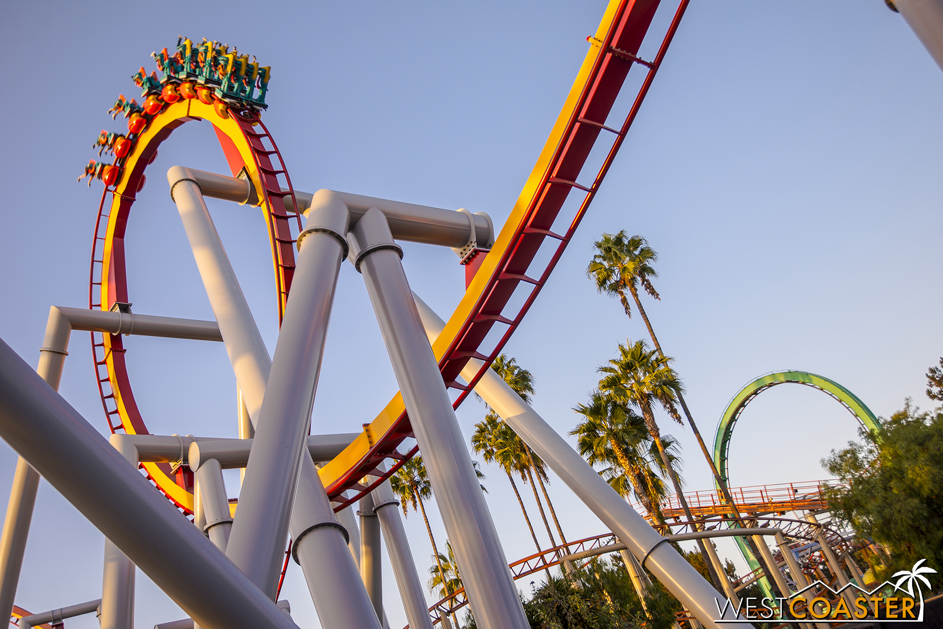 The loops of Silver Bullet and Montezooma's Revenge.