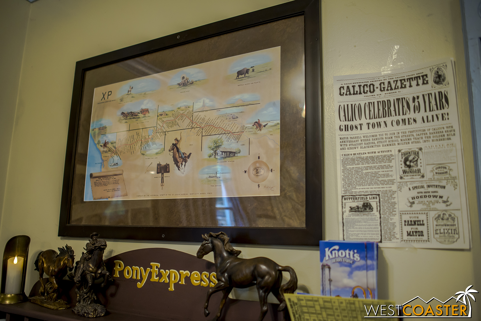 A map of the Pony Express.