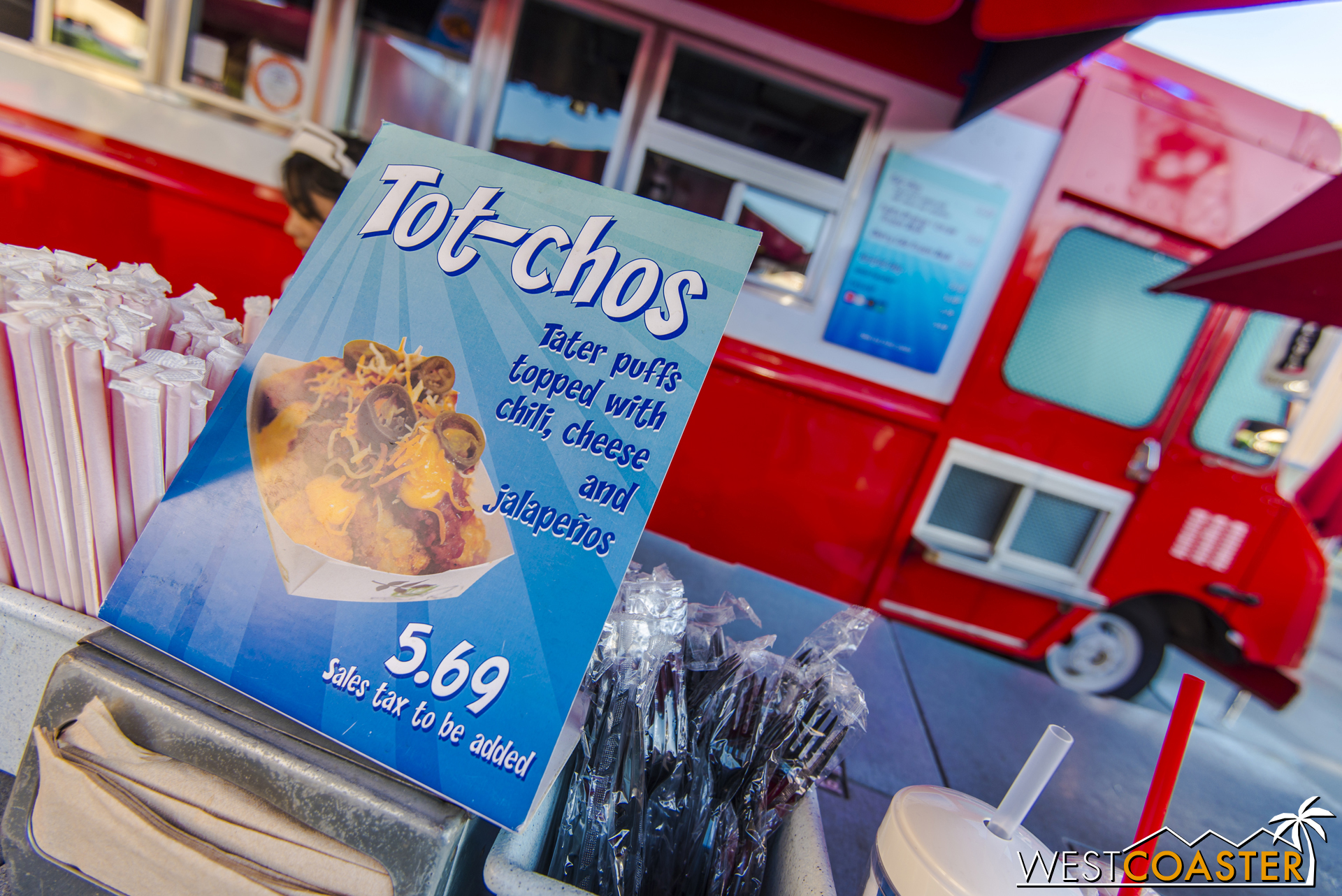 In other amazing news over in Hollywood Land, you can get Tot-cho's over at the food truck near Stage 12, around the corner from Monsters Inc.