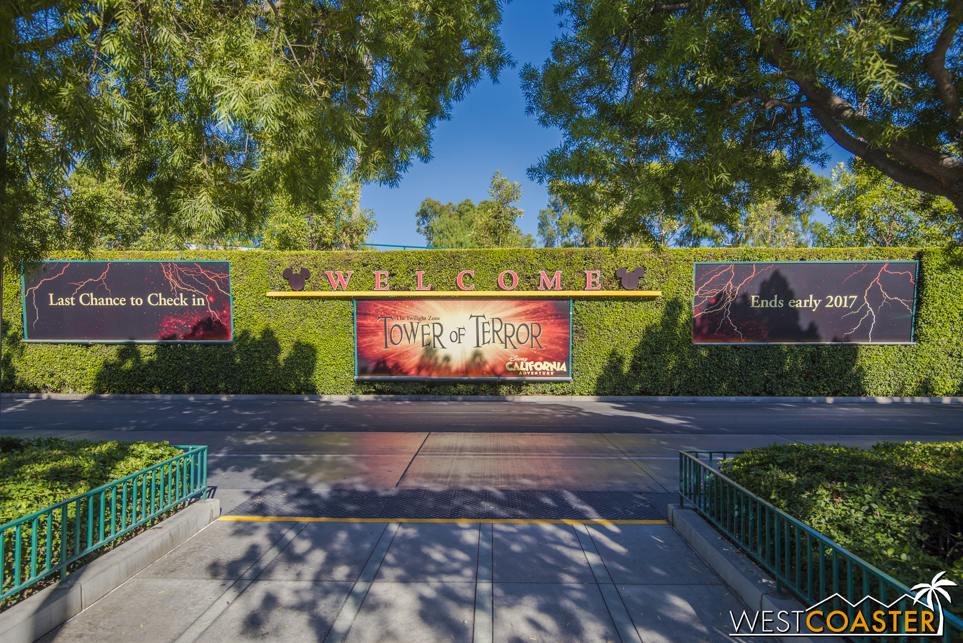 Here's the new Mickey and Friends Parking tram loading area poster.