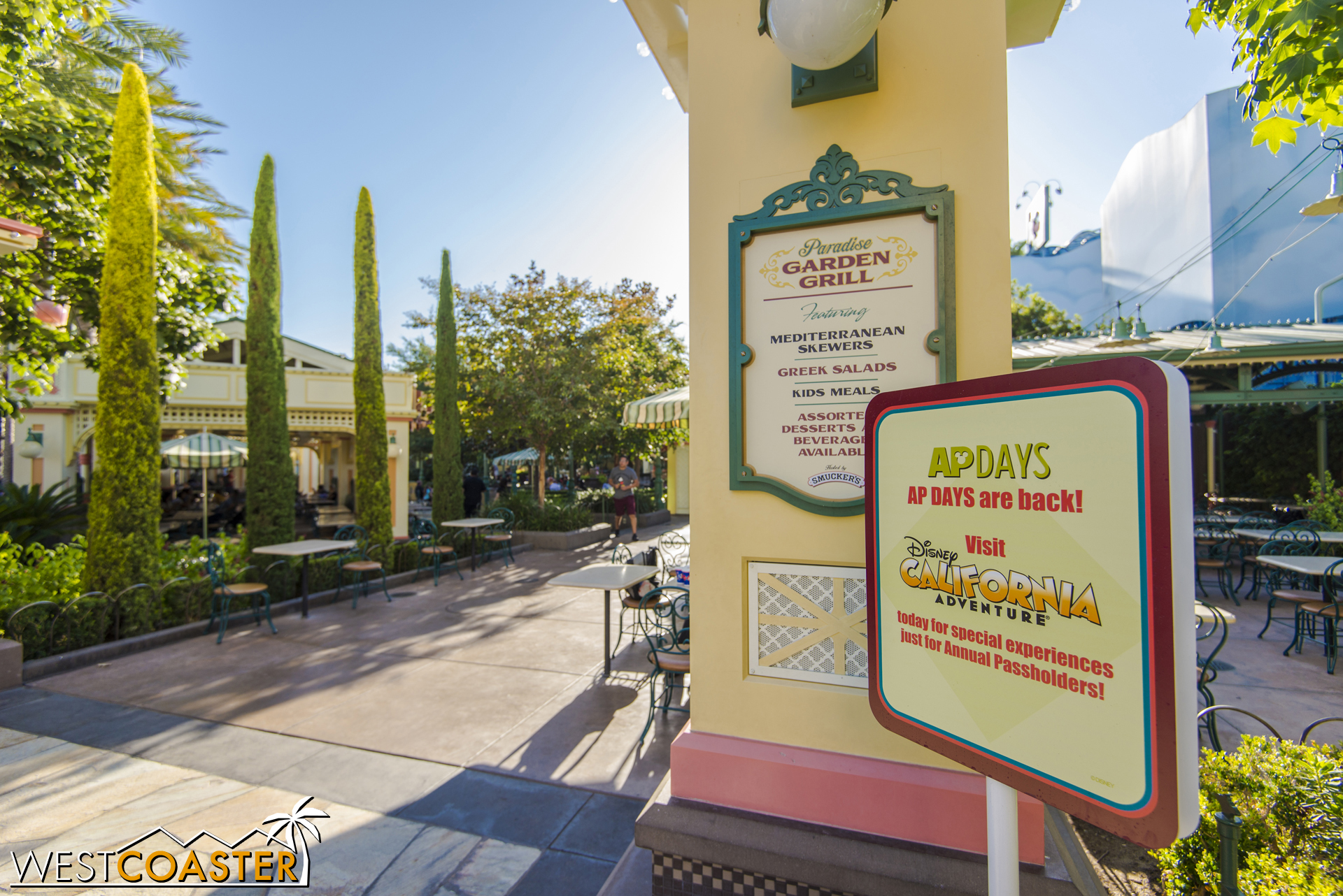 There are two AP Days locations.  This one is over by Garden Grill, at Paradise Pier.