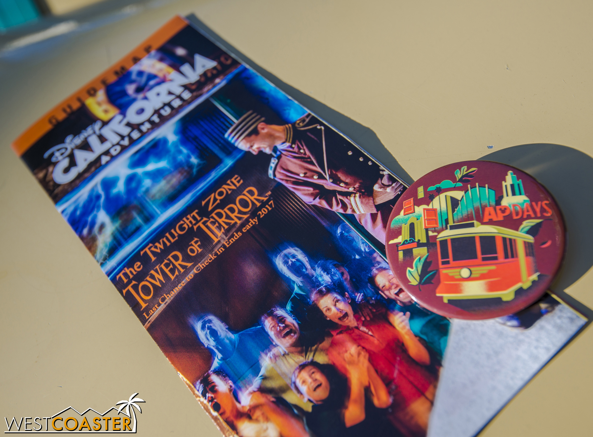 Also, the new DCA map features Tower of Terror (and actually a pretty cool photo).
