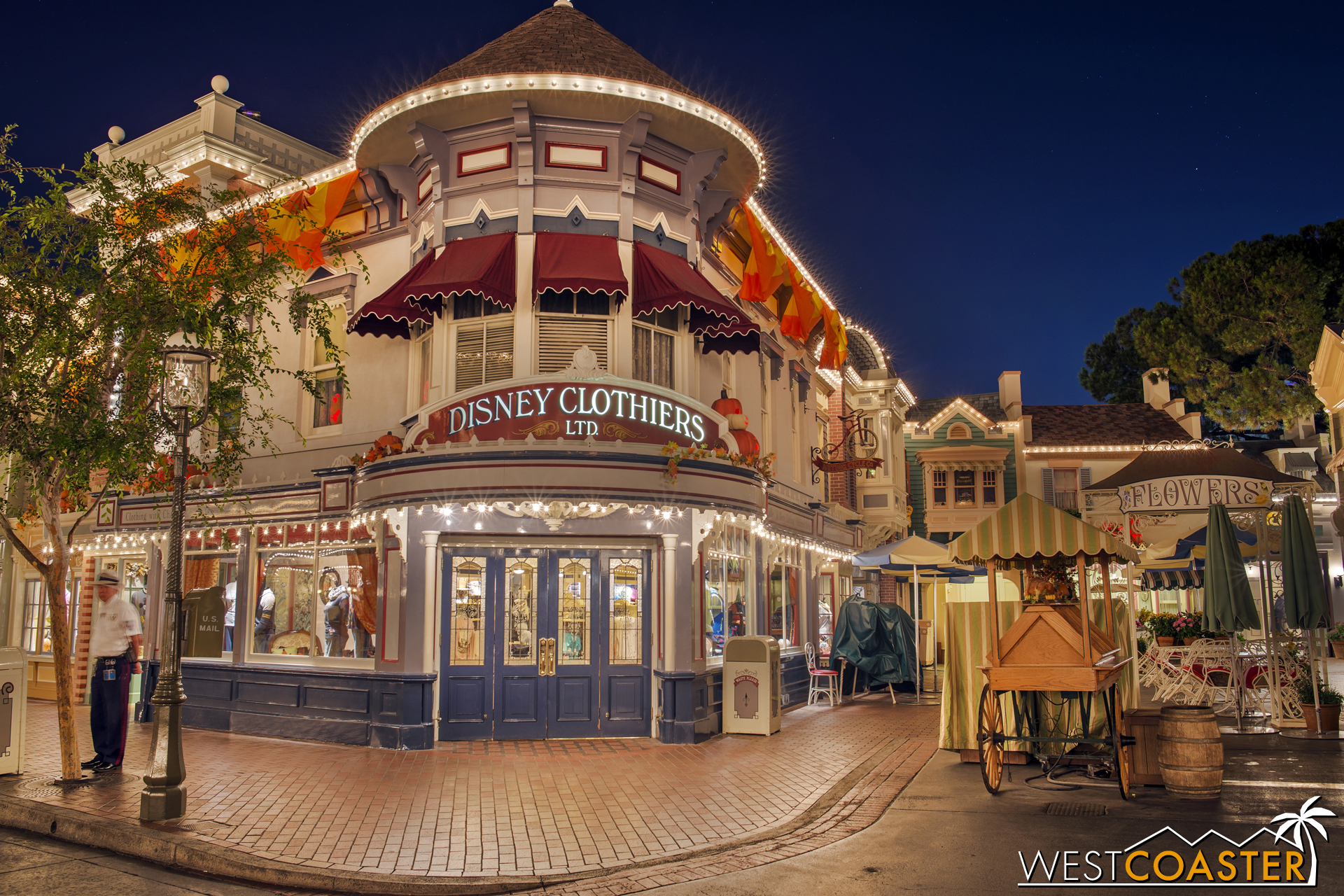 Then across the east side and Disney Clothiers.