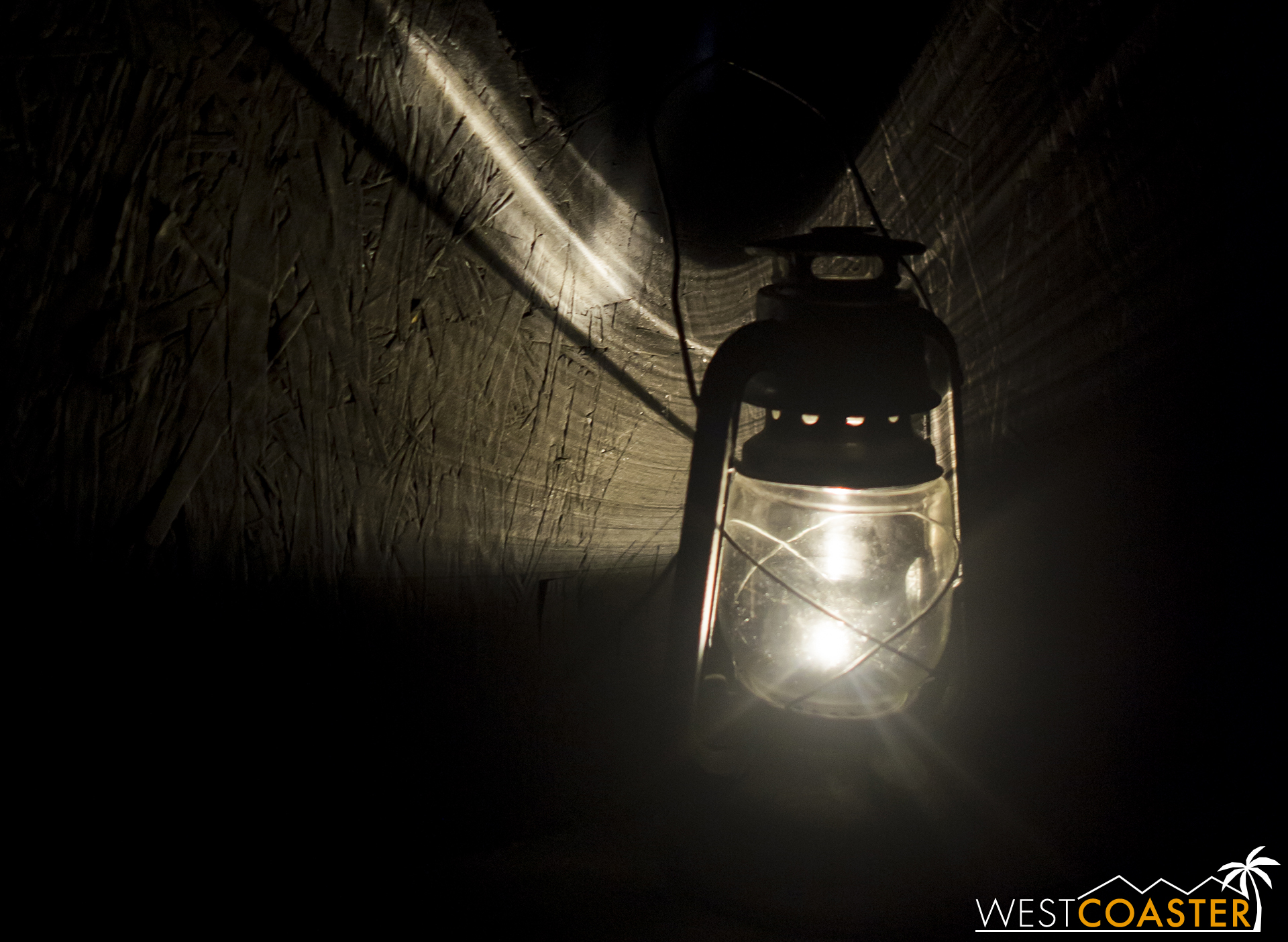 After guests escaped, they went through the final portion of the maze, a blackout segment, lit only by a dim lantern.
