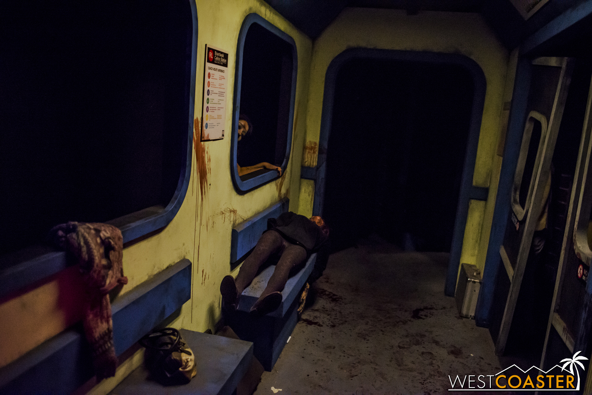 Going through subway cars, with zombies attacking at random.