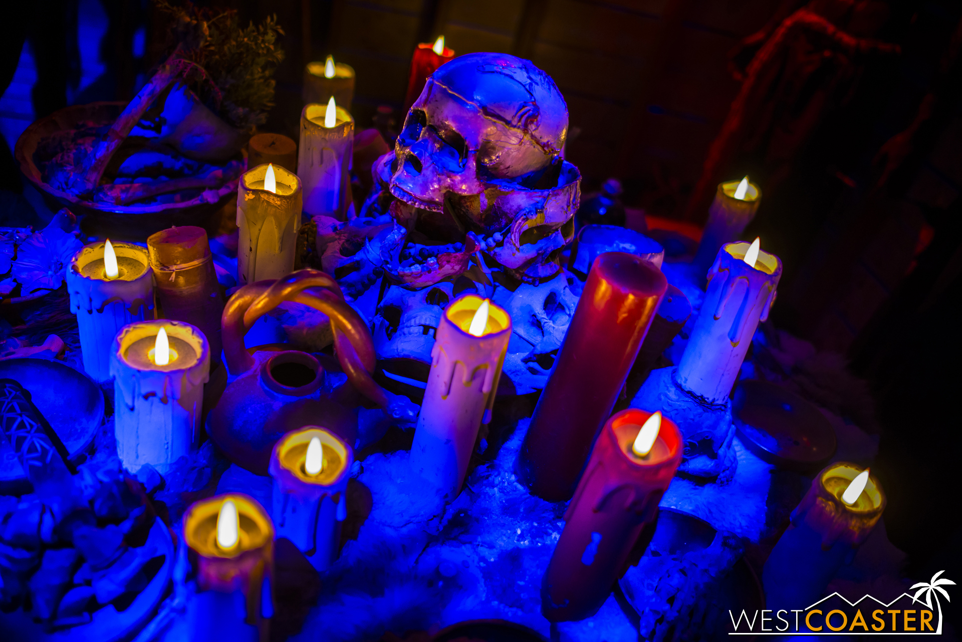 Candles and skulls and such.