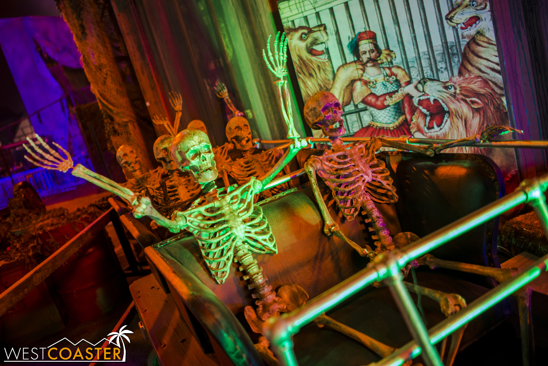 I do love these roller coaster riding skeletons.