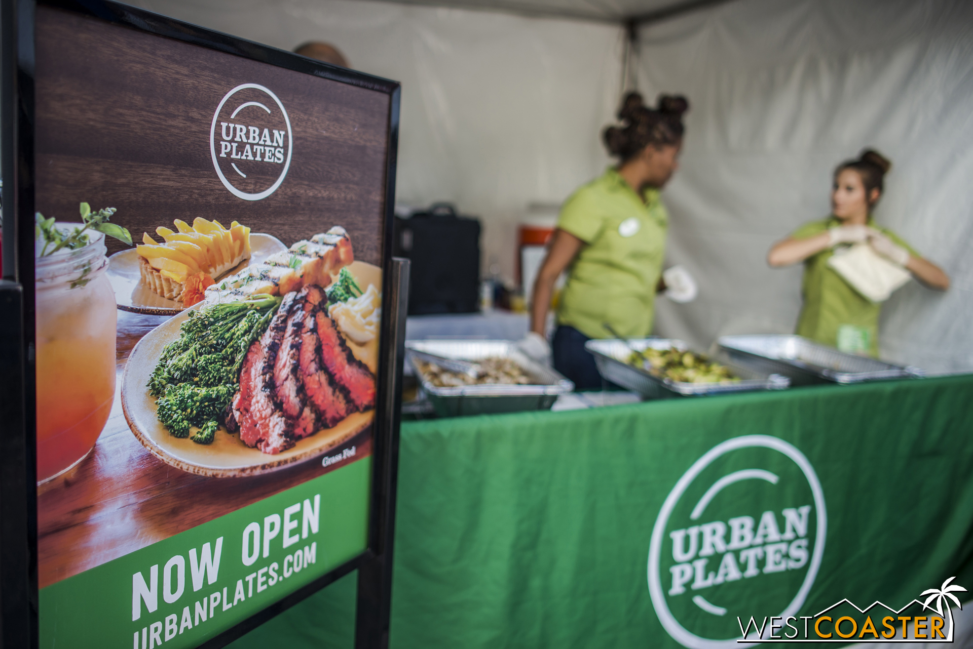 Urban Plates has recently opened up a location nearby and was giving out samples of some of its healthy-minded offerings.