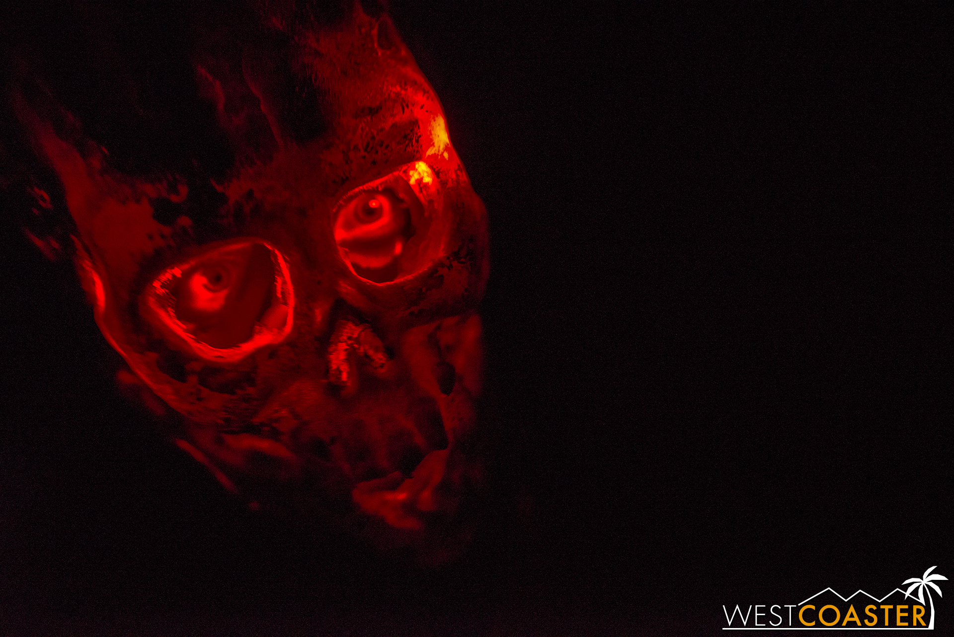 Some of the monsters in the darkness have some fantastic-looking glowing red skulls.