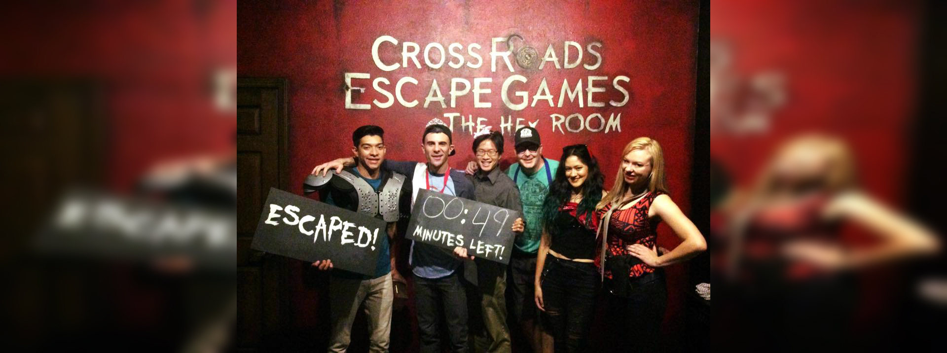We all escaped.  Barely!