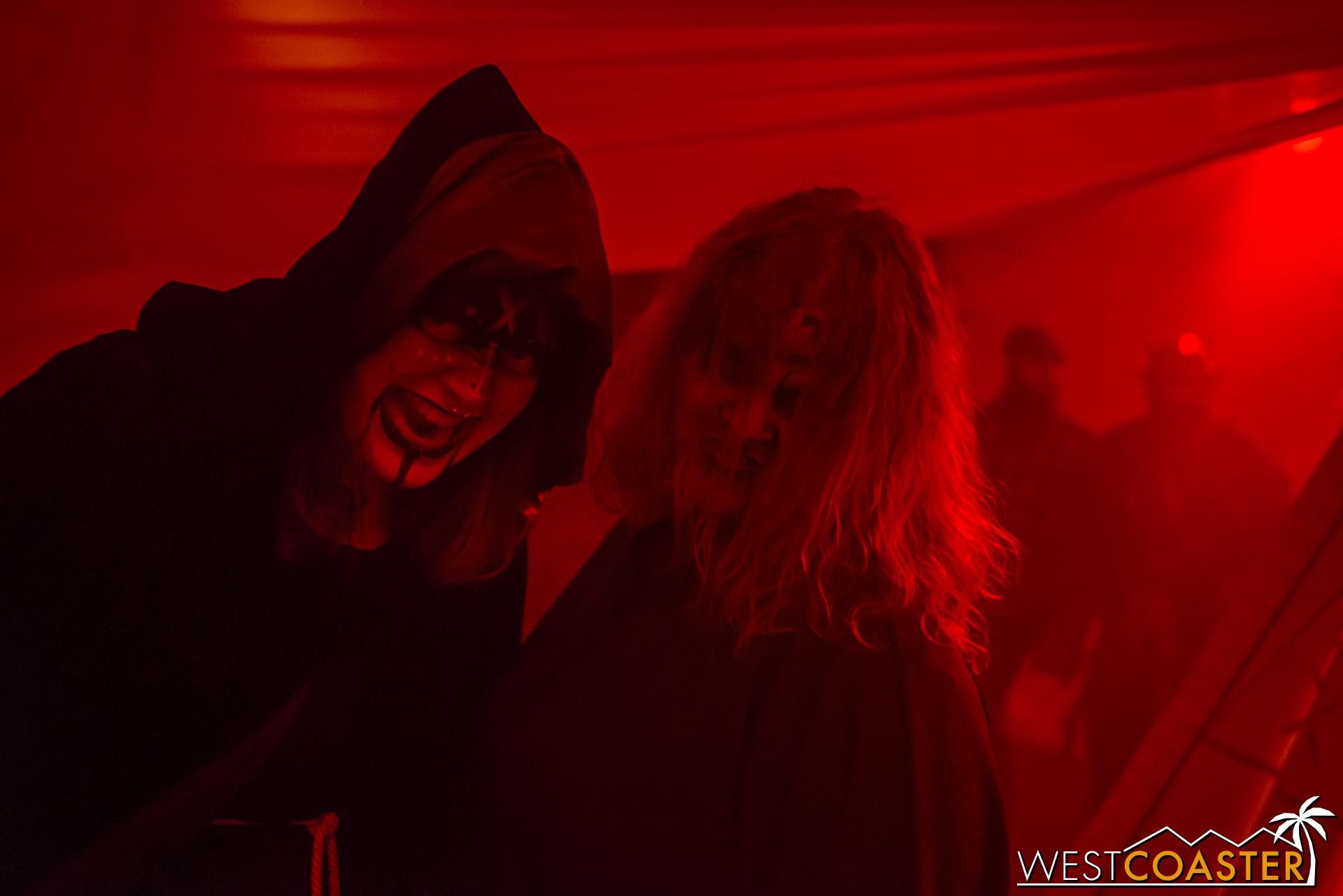 These ladies lurk in the dark.