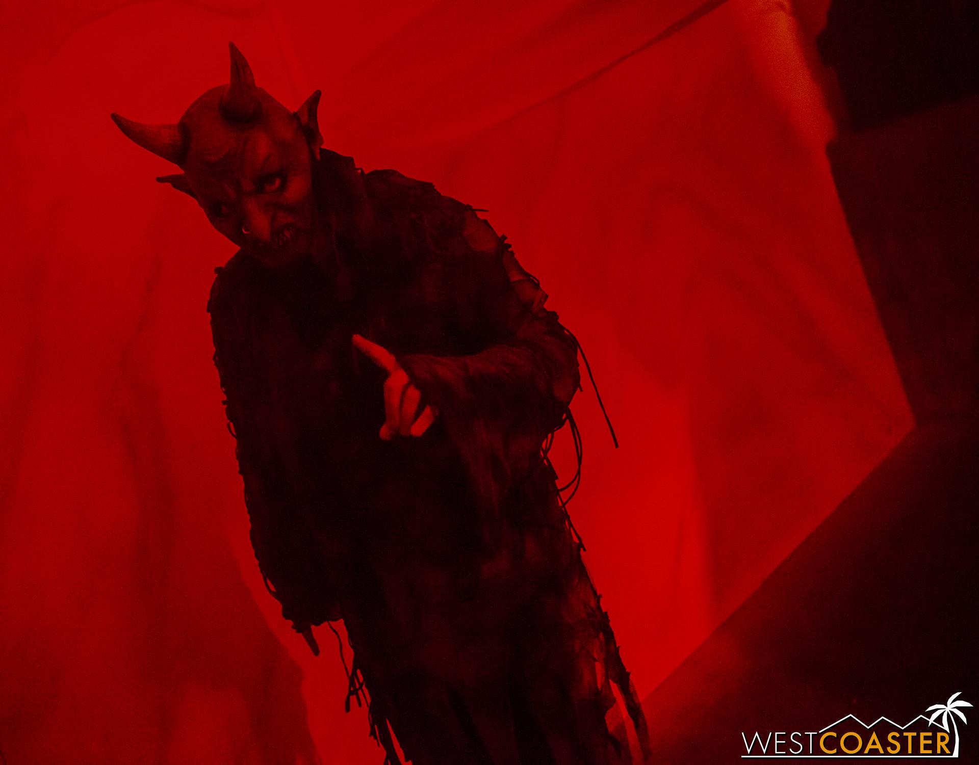 This demon promises guests won't escape.