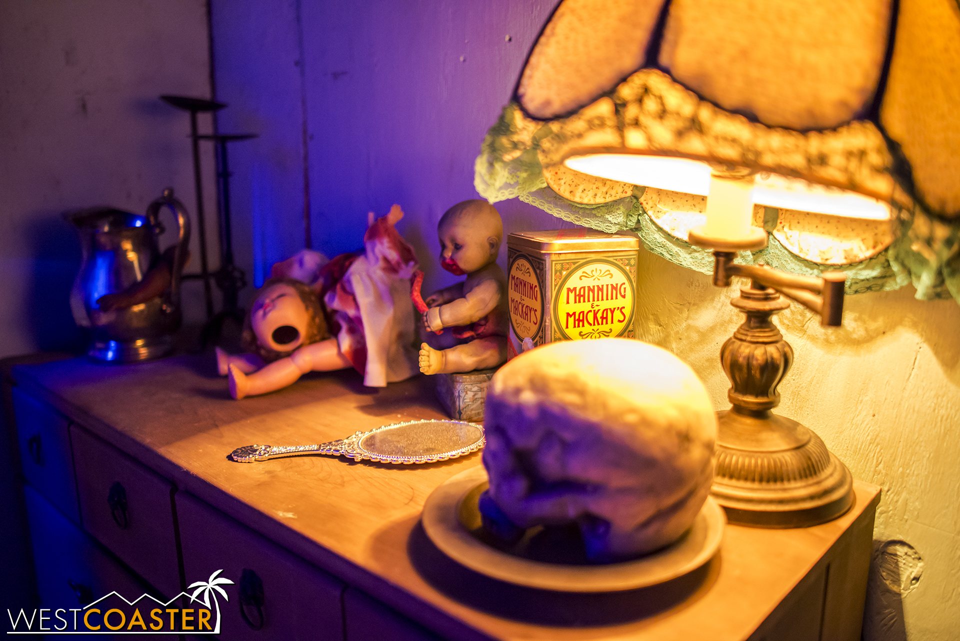 And the theming in this room, as throughout the haunted house, was fantastic.