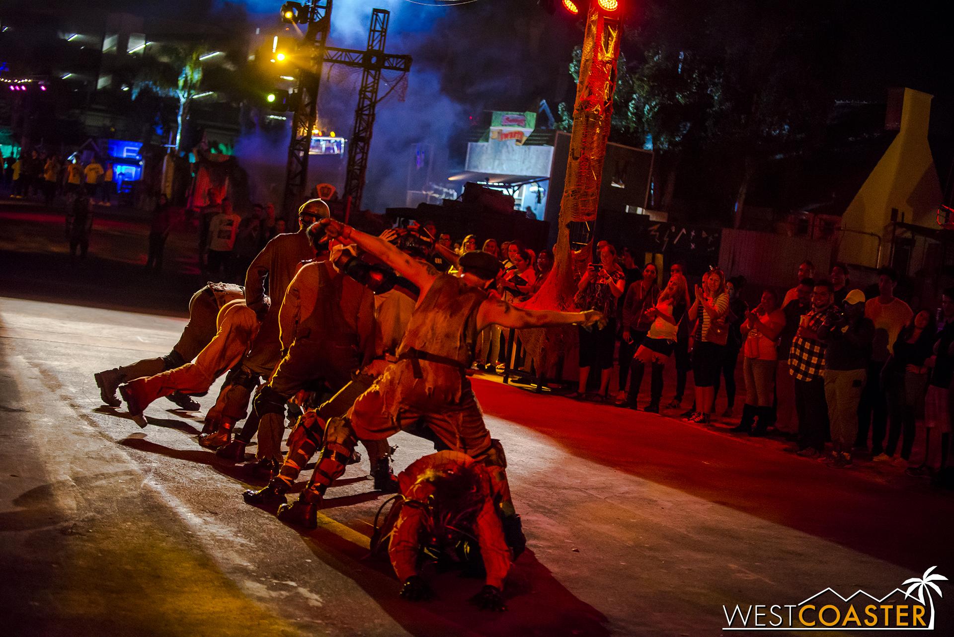 Dark Harbor's Slider Nation sliders performing at this year's Dark Harbor.