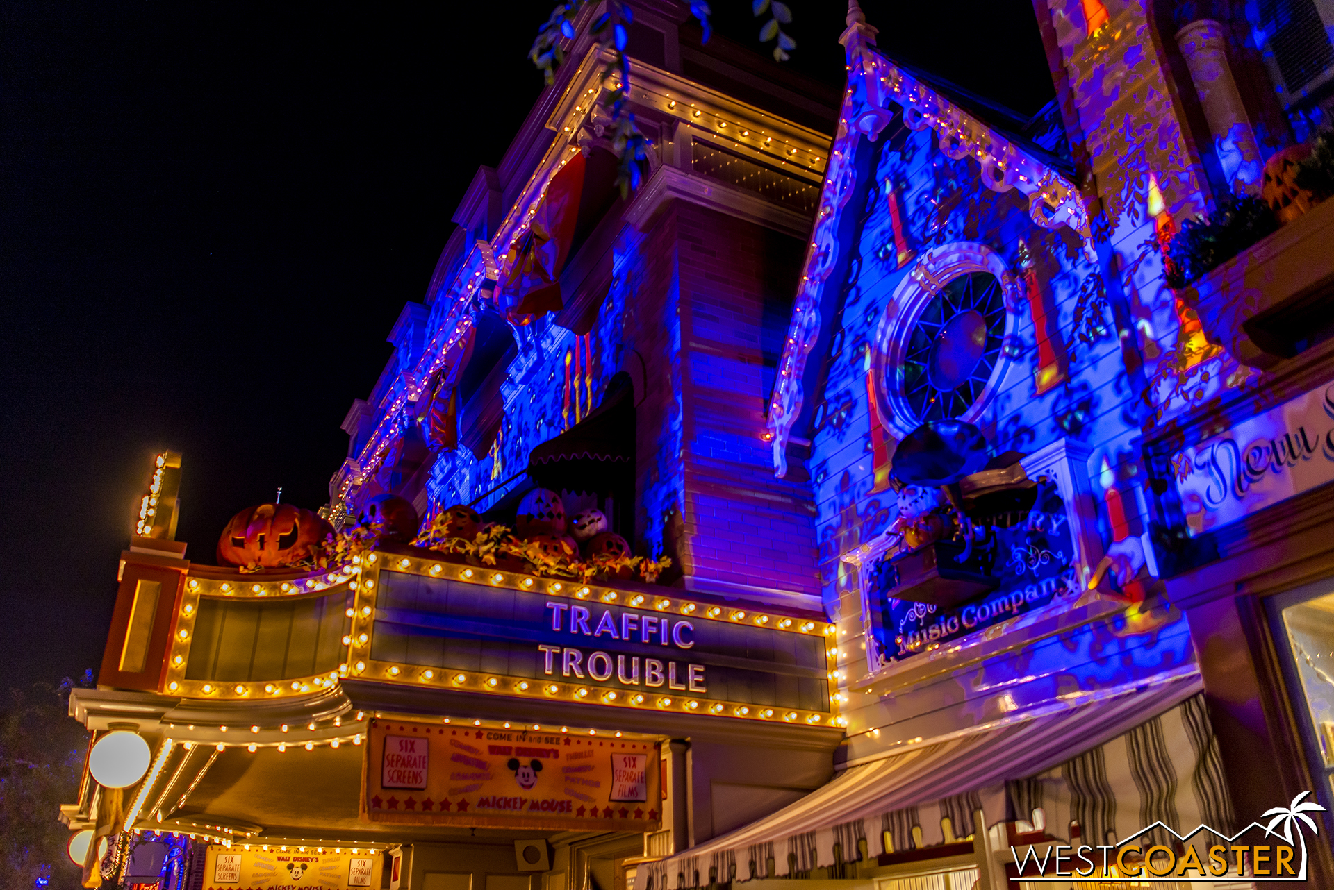 These are the legacy of the Main Street window projections used for the Disneyland Forever fireworks show.