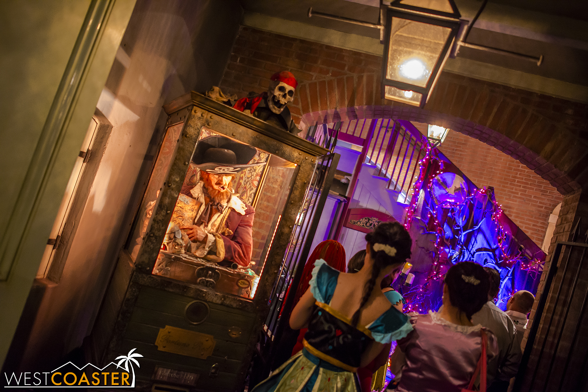 The Jack and Sally meet-and-greet at 35 Royal Street remains popular throughout the Halloween Party.