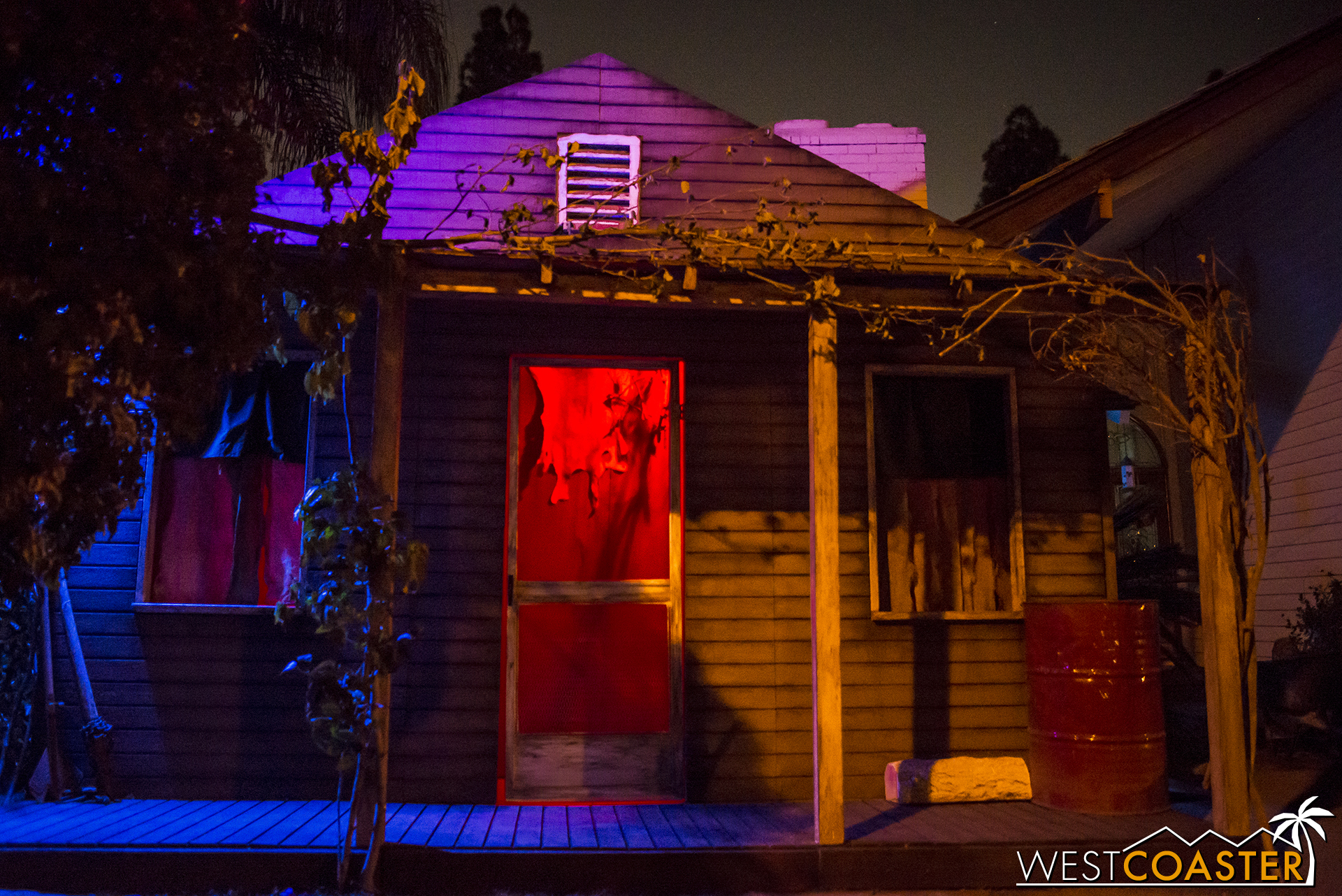 No big deal for this haunted yard display. They only just, I don't know, CONSTRUCTED A WHOLE FREAKING FACADE FOR IT!!