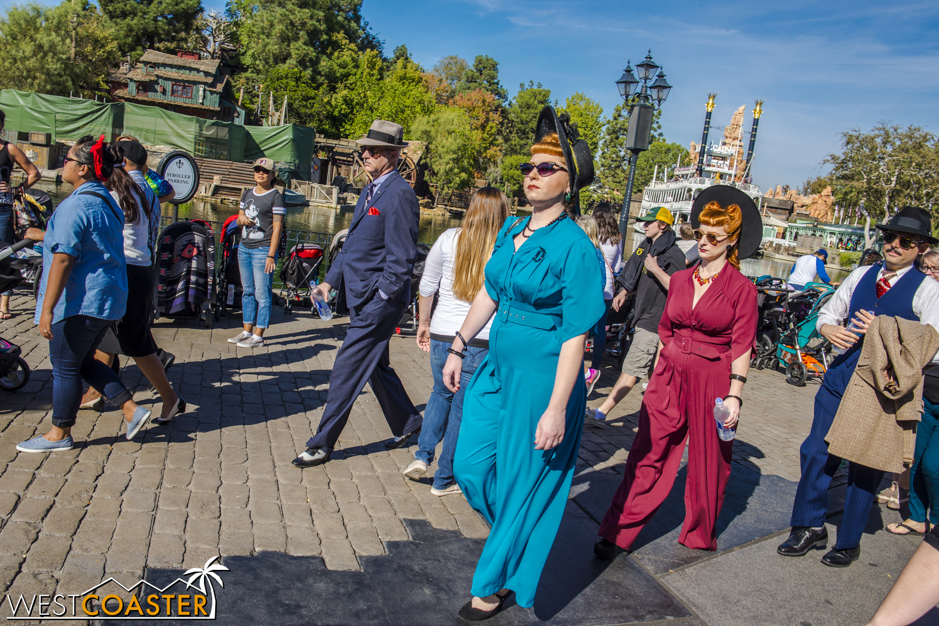 People spotting is a great hobby during Dapper Day.