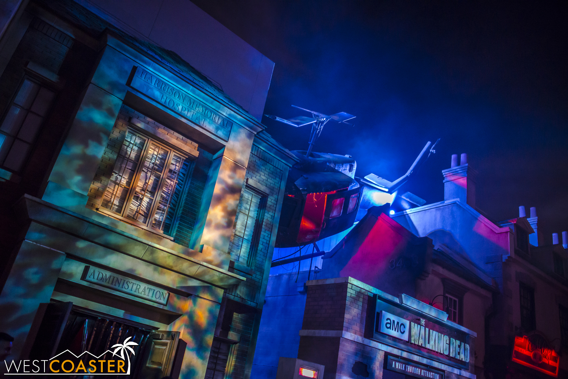 The Walking Dead Attraction is located just left of the Universal Plaza, right after the main boulevard in.