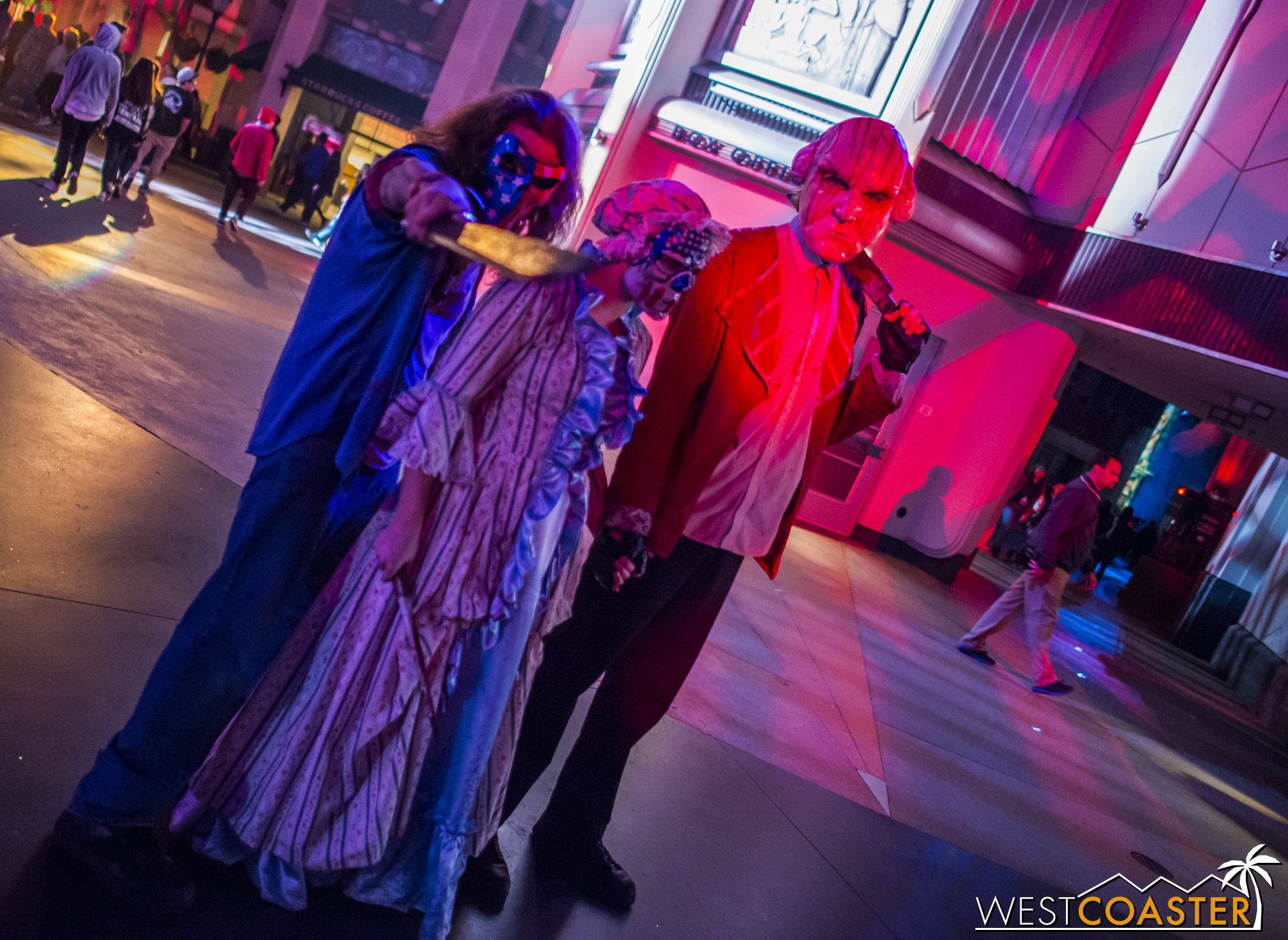 This year's main scare zone was wonderfully effective because of the blur in reality.