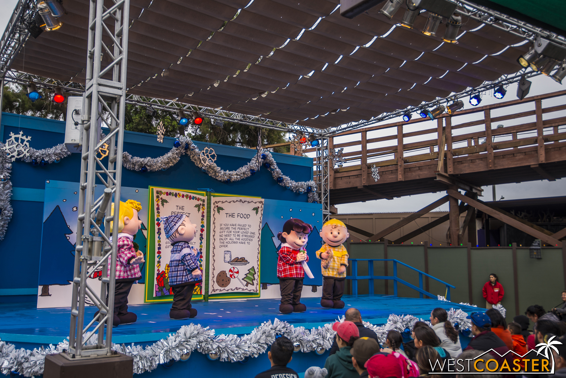 This is one of several Peanuts Christmas shows at Knott's Merry Farm.