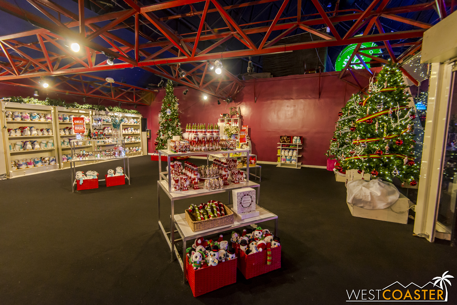 And a shop in which you can buy literally every holiday thingy you could possibly want.