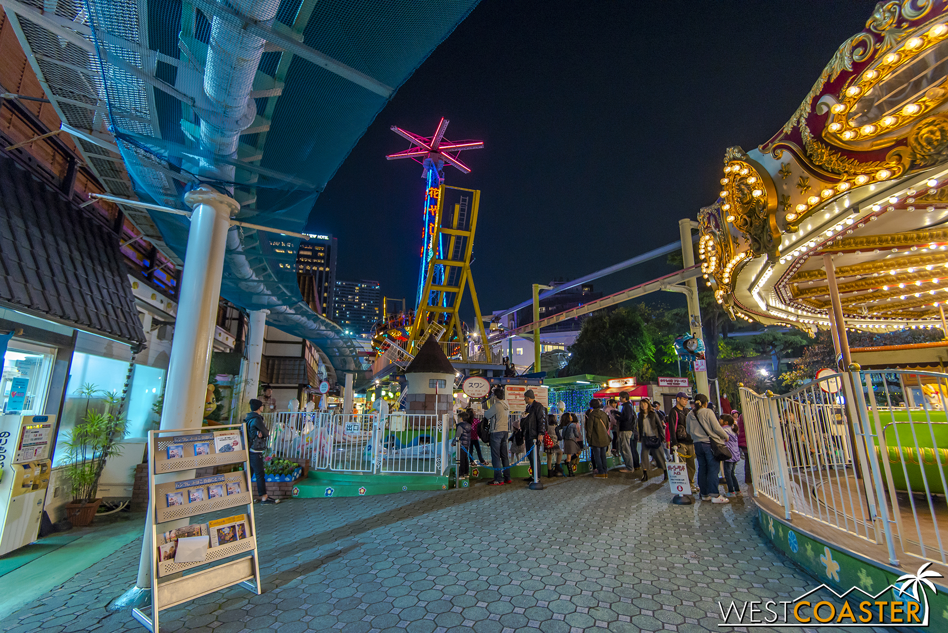 The entry into the midway at night (from last year, since Bee Tower no longer stands).