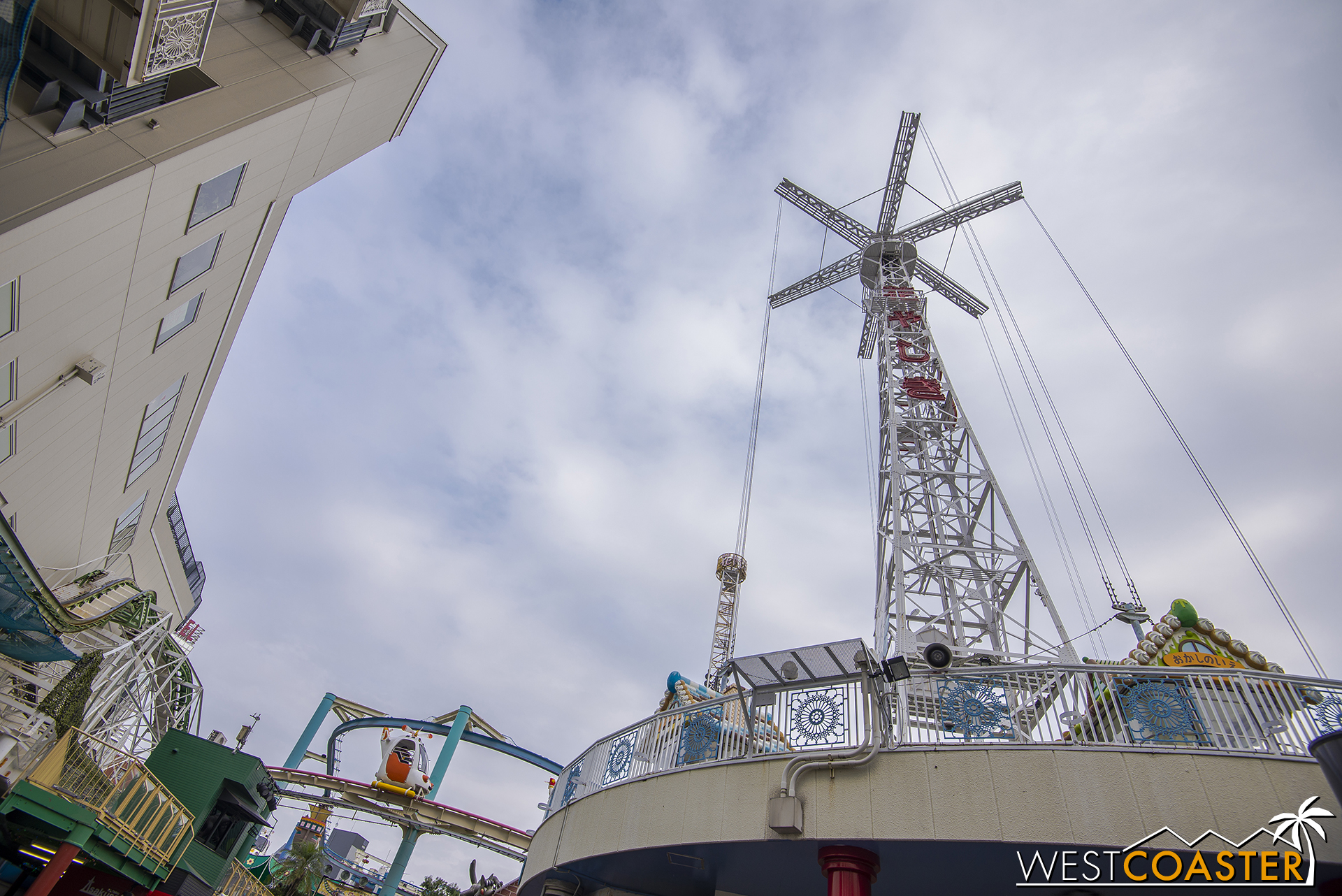 Riders were hoisted up several dozen feet in the air to look around, but unfortunately, this attraction was demolished earlier this year.