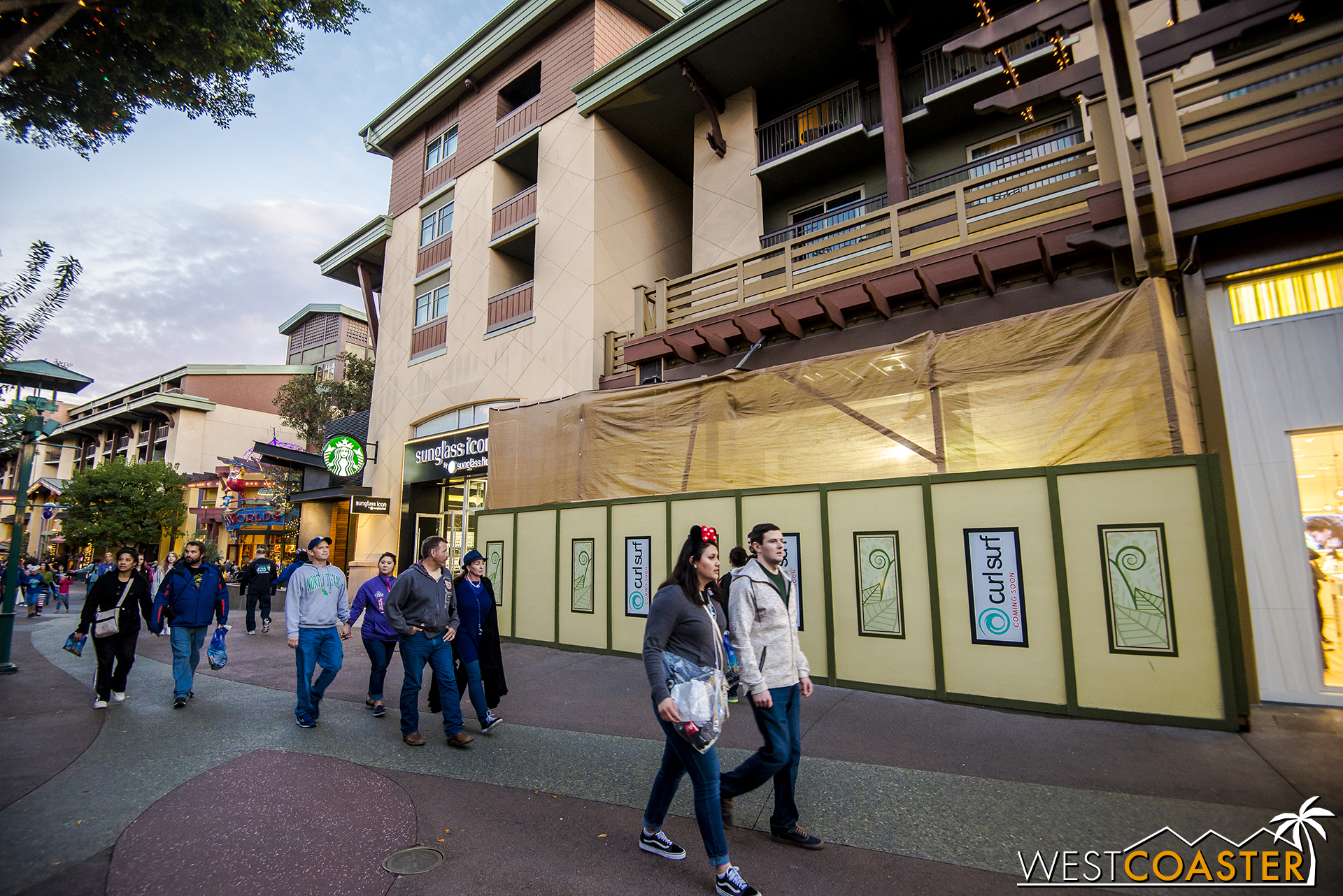 Out in Downtown Disney, they're building a new surf shop store to replace the ousted Quiksilver store. It's next to the relatively recently-opened Pandora shop.