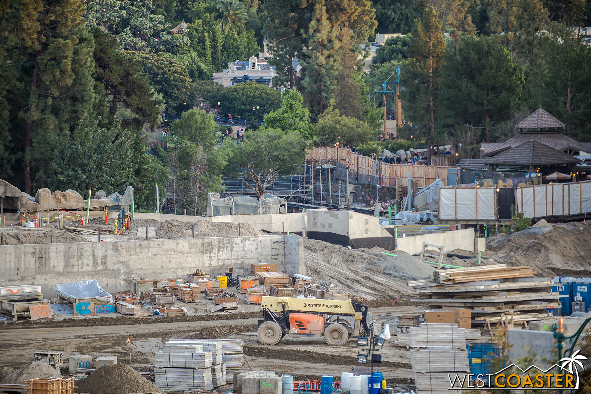 """There will be a tertiary access point into """"Star Wars"""" land from this area that tunnels right under Winnie the Pooh and includes a periscope point to look at the busts of Melvin, Buff, and Max."""