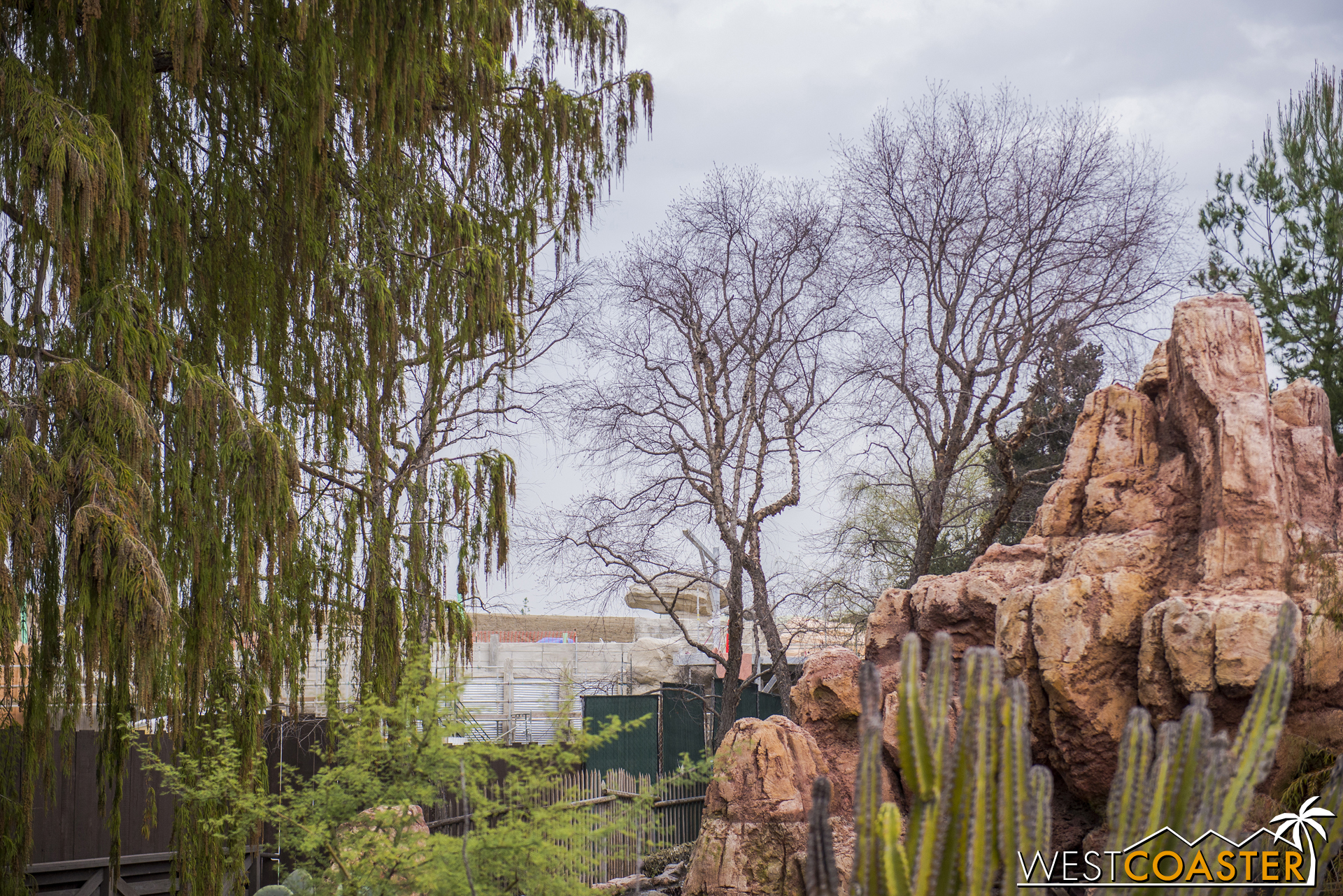 """More walls for the backside of """"Star Wars"""" Land."""