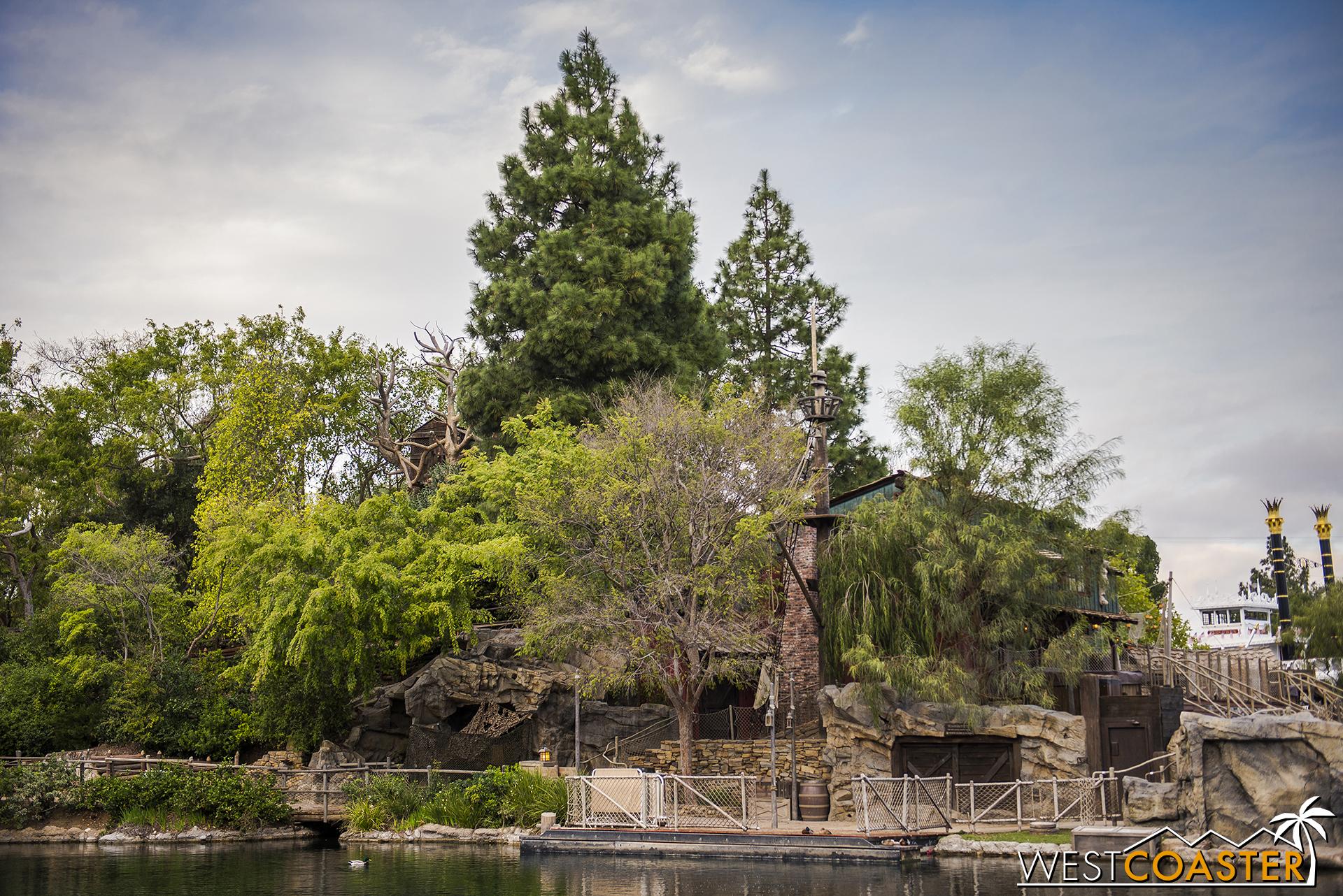 The side of Tom Sawyer's Island.