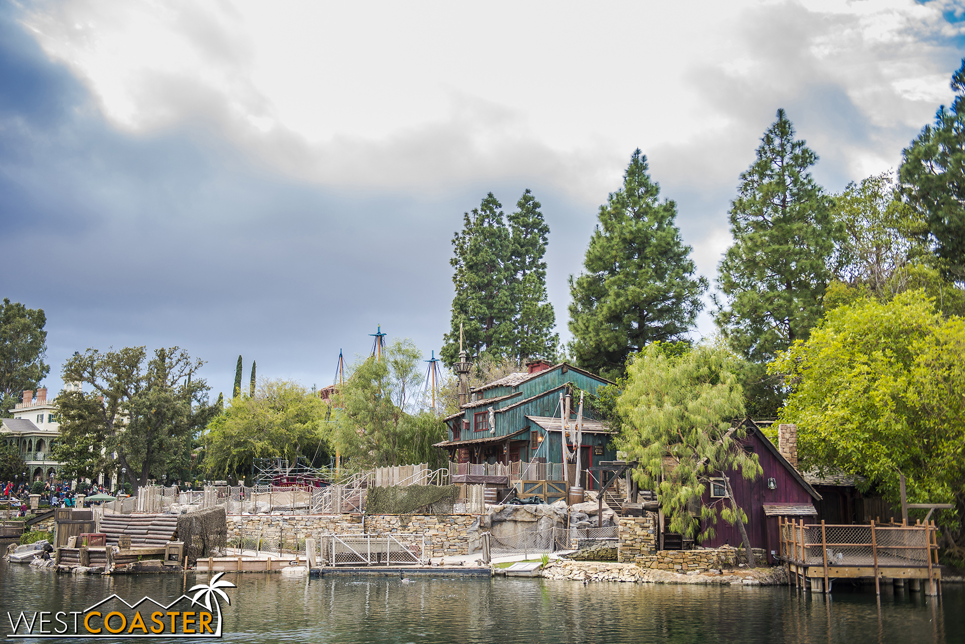 The other side of Tom Sawyer's Island.