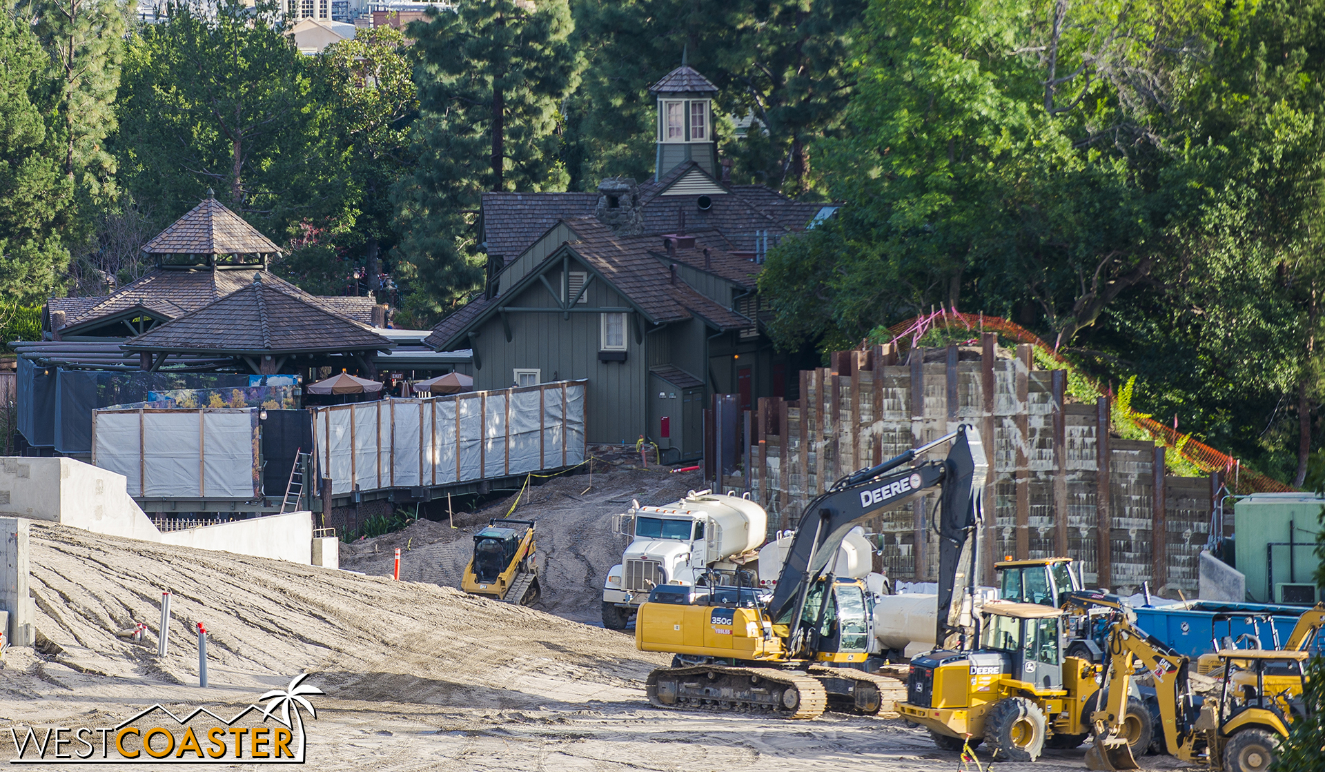 """Eventually, there will be a walkway somewhere in this very general area connecting to """"Star Wars"""" Land. It will be a minor entry, sort of like A Bug's Land into Cars Land."""