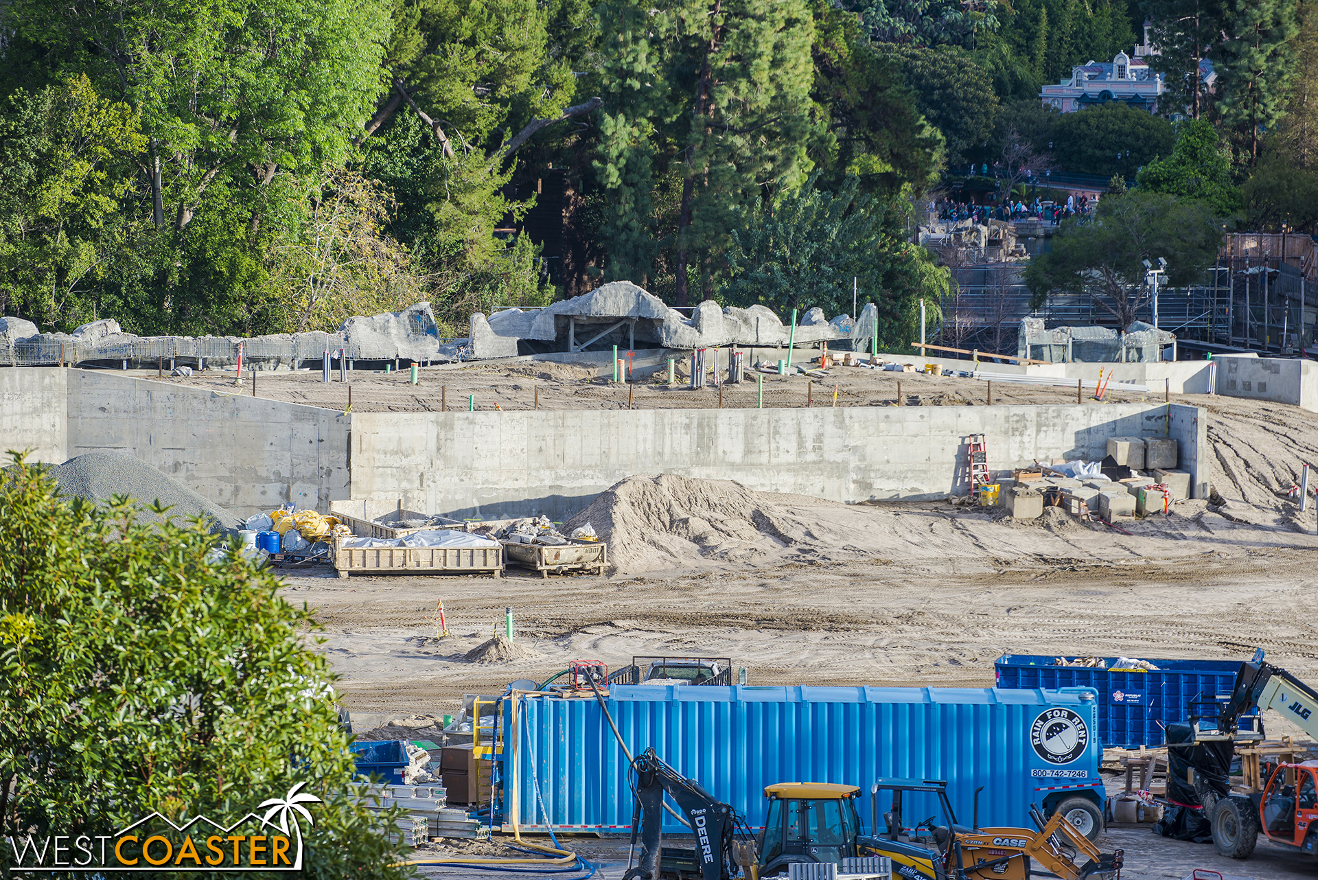 """In actuality, of course, it's the berm that will separate """"Star Wars"""" Land from the Rivers of America and Frontierland."""