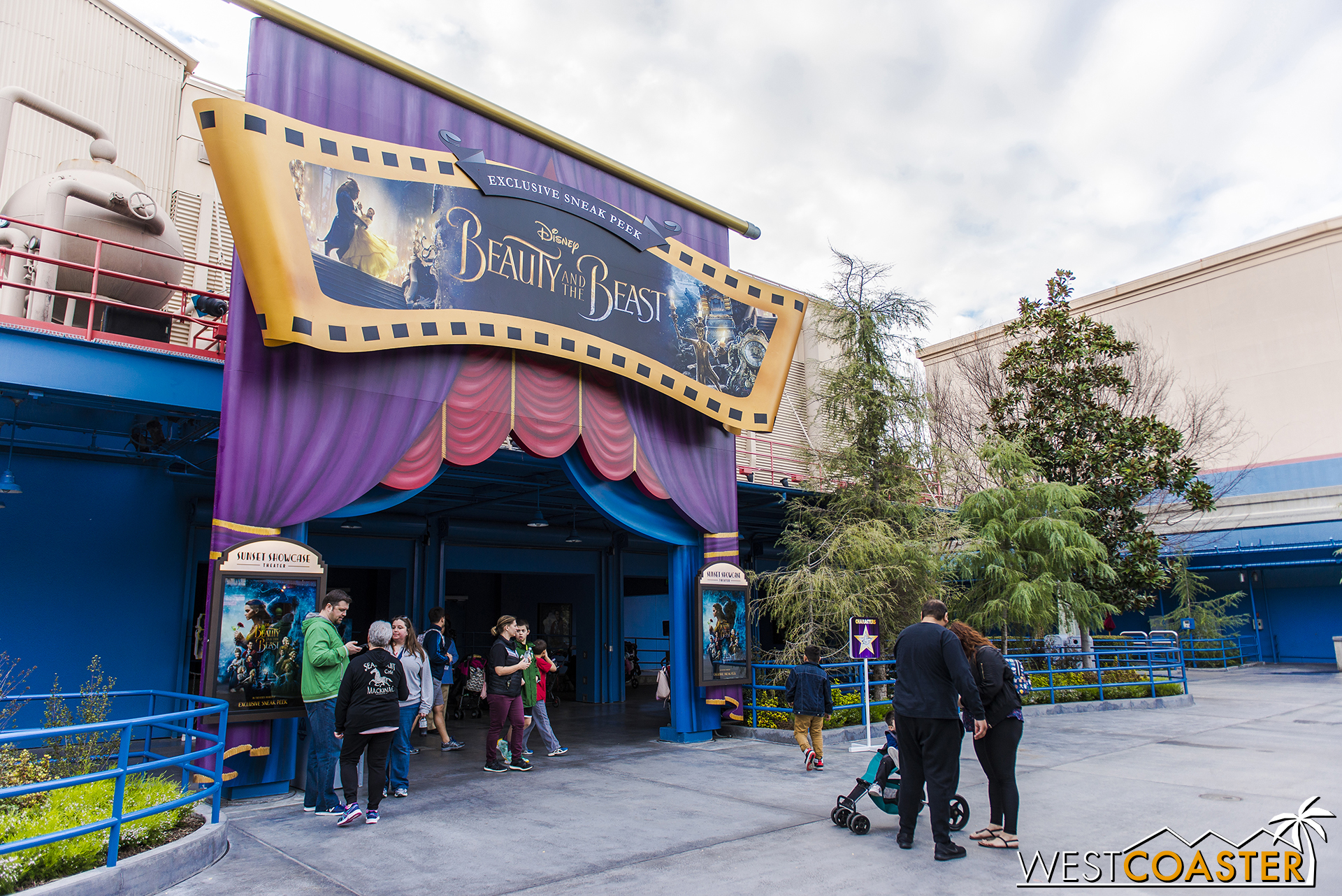 Also, you can get an extended sneak preview of the new, upcoming, live-action  Beauty and the Beast  movie at the old Muppetvision Theater in Hollywood Land, if you're so inclined.