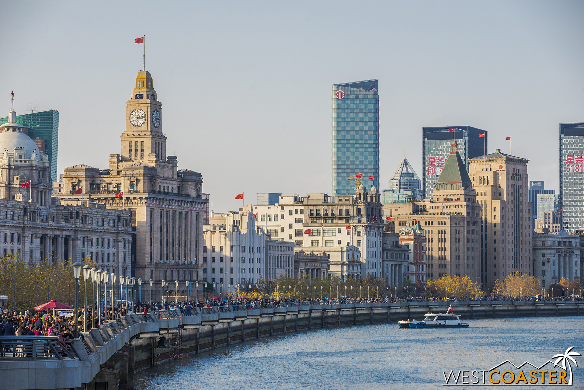 The Bund, on the west side of the Huangpu River, is old Shanghai and filled with classical European influences stemming from 19th century imperialism.