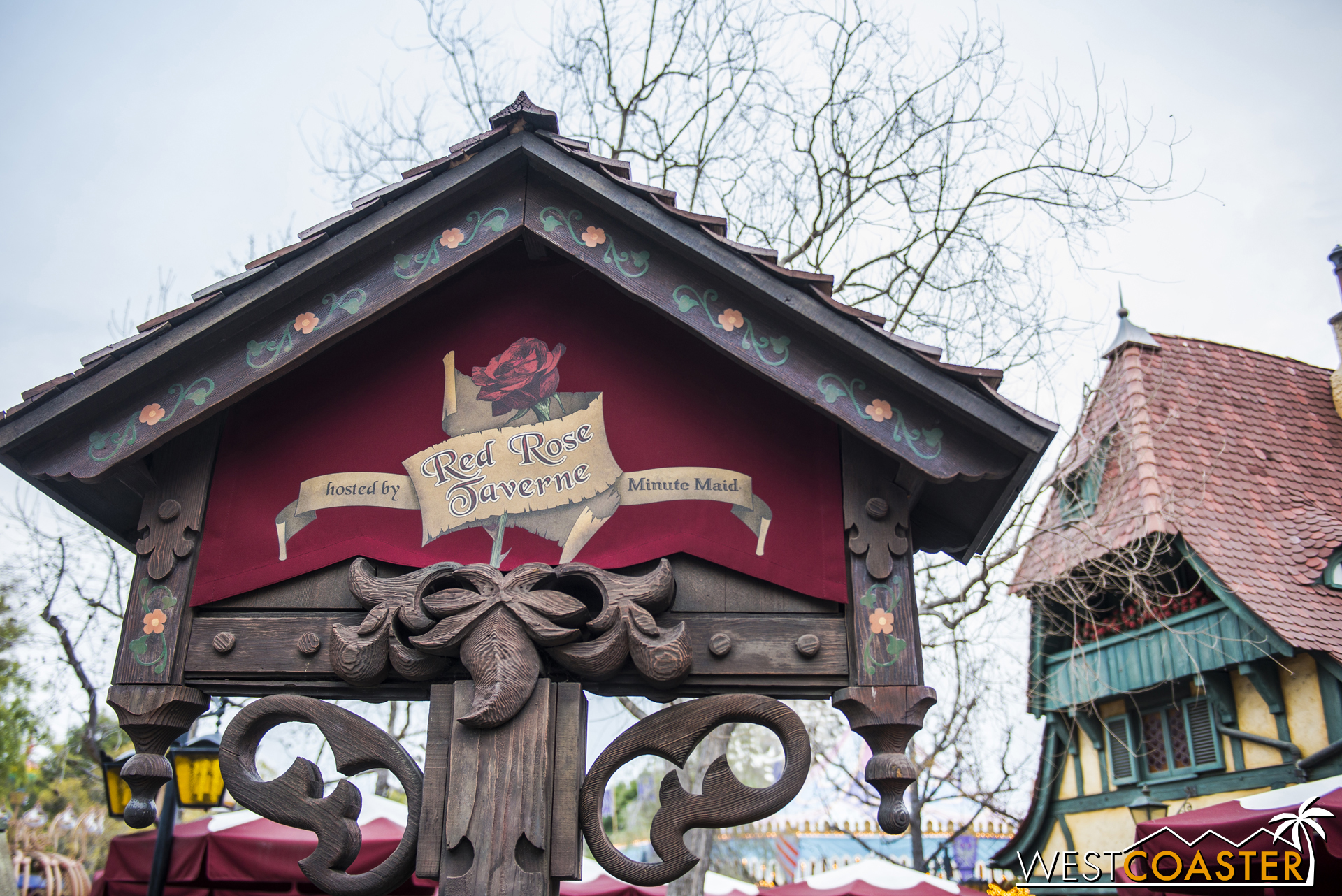 The Village Haus sign outside has been transformed into something a bit more French. Just a bit, though.