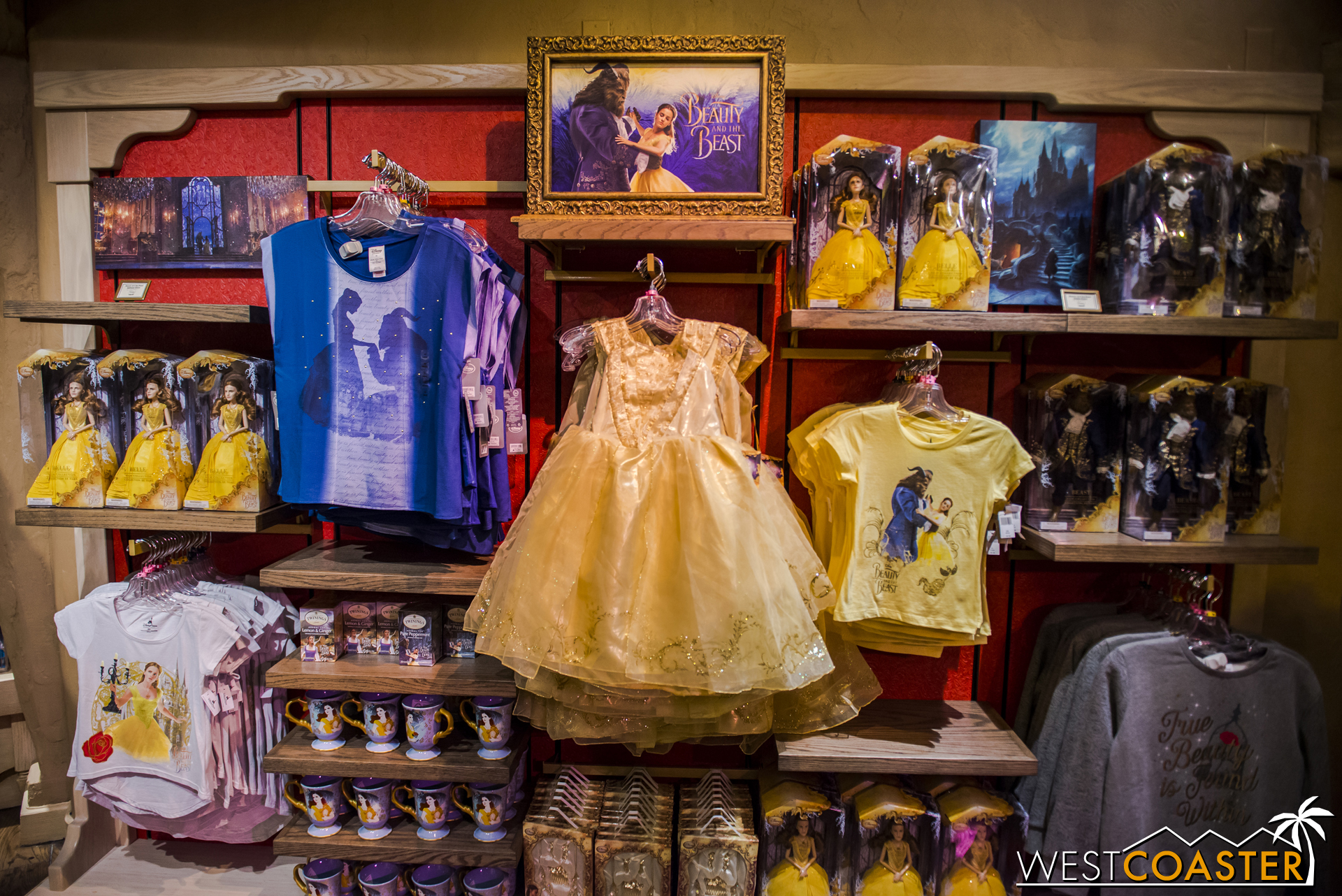 Plenty of merchandise for  Beauty and the Beast  fans, though!