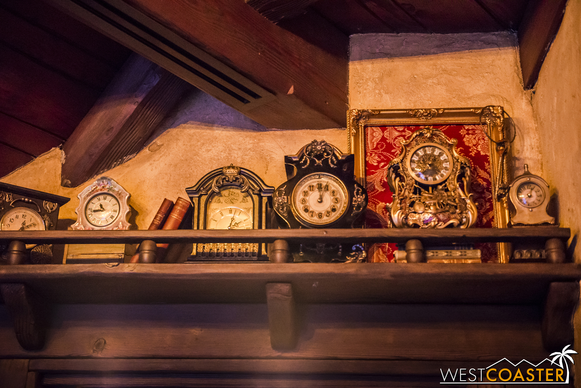 Cogsworth and friends on another shelf.