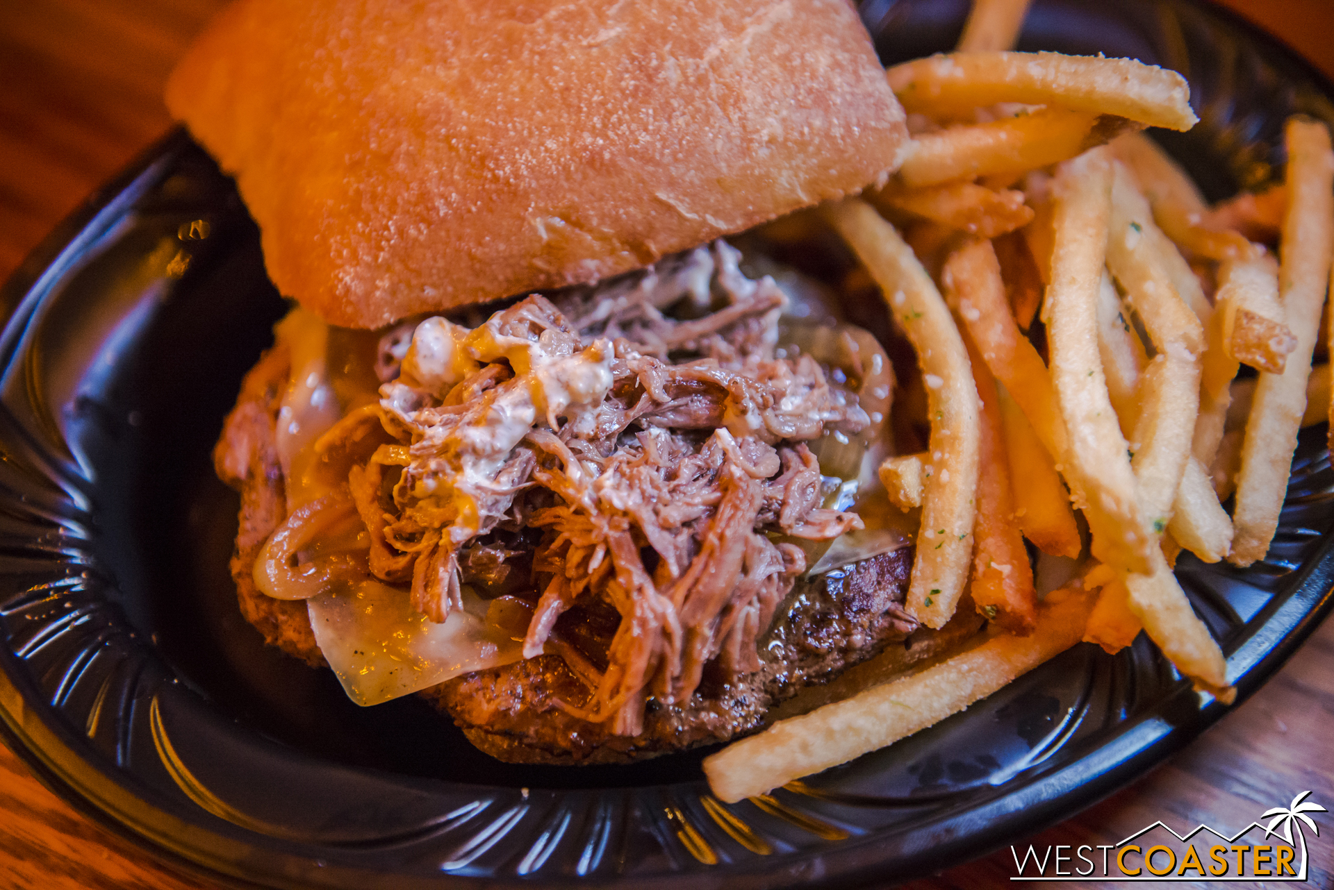 The Beast's Burger was an umami overload, and that's not necessarily a bad thing. Meat on top of meat with hearty gruyere cheese, this burger is definitely targeted at carnivores. It's bold and befits its namesake, and the fries add a great pairing.