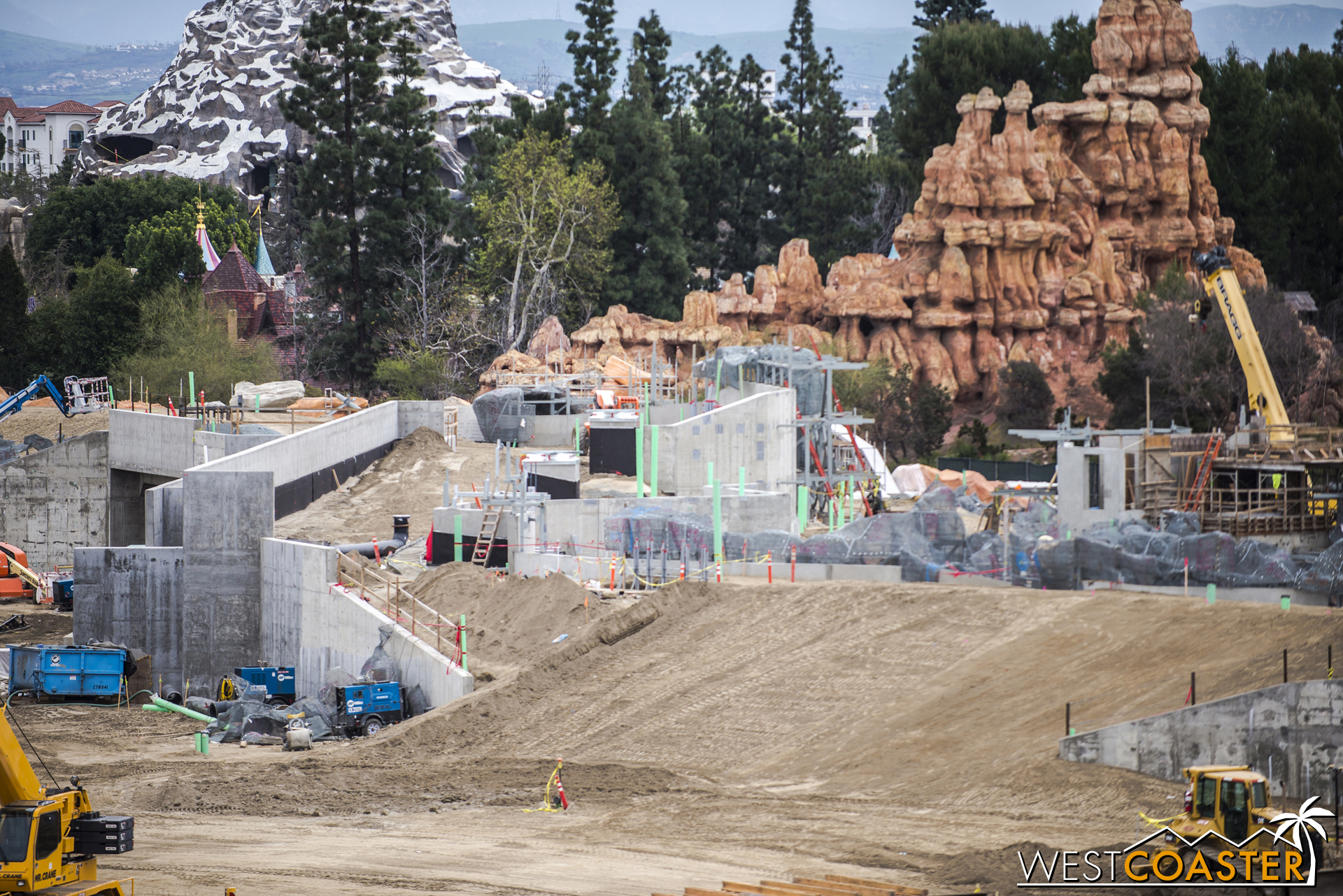 And there seems to be something architectural going up behind the rockwork on the right of this photo too.