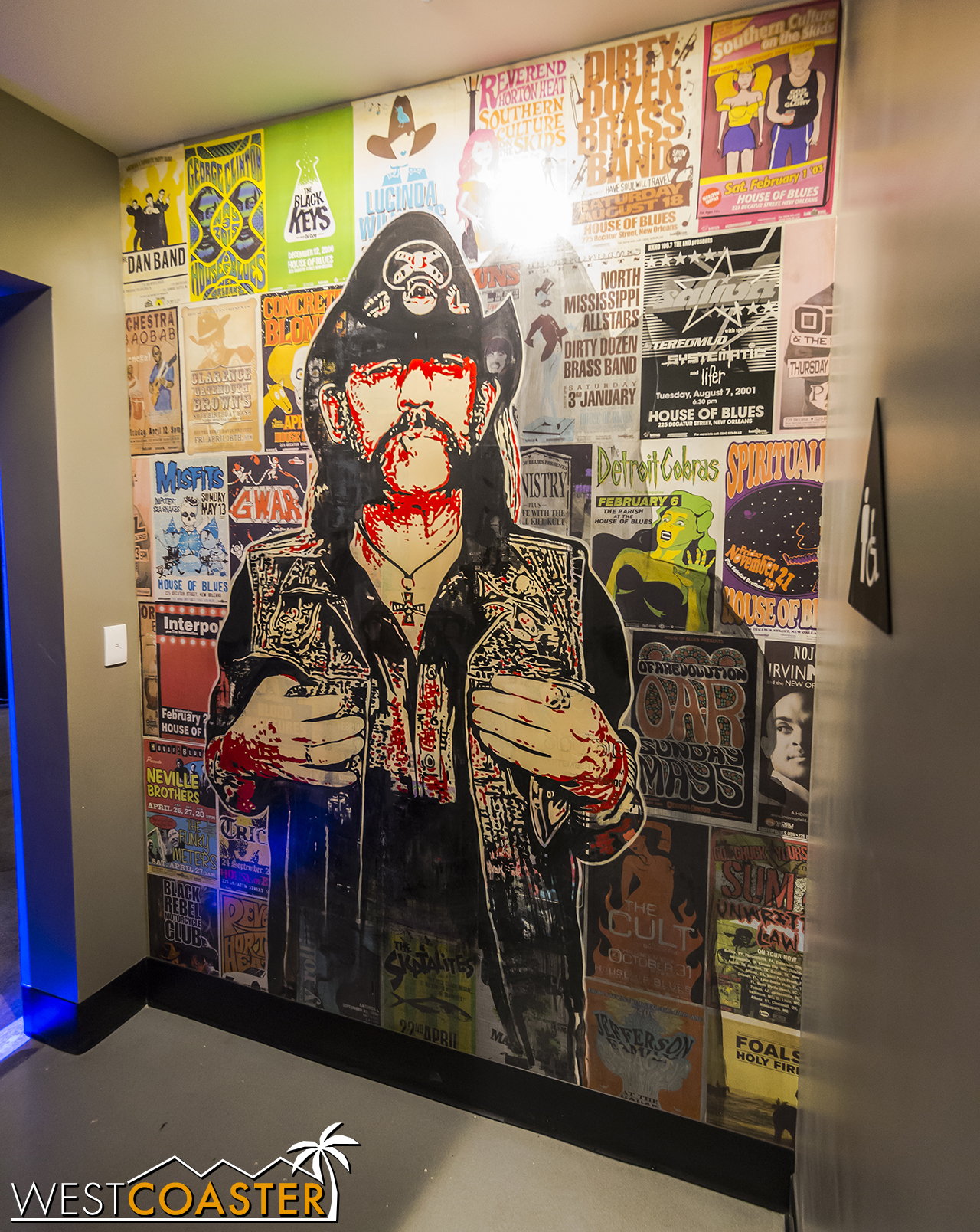 Lemmy in the ground floor men's restroom.