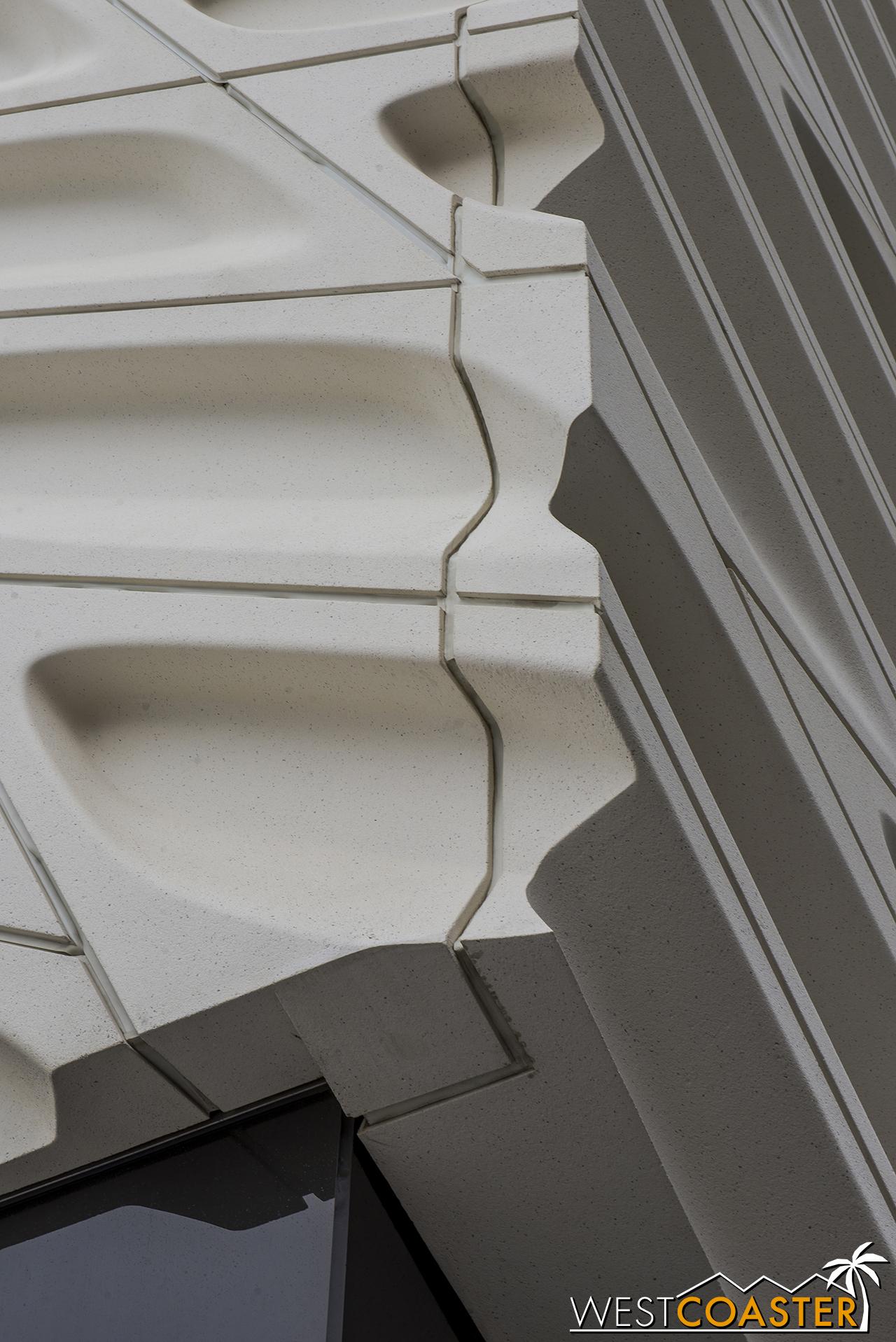 Nerdy architecture corner detail photo.