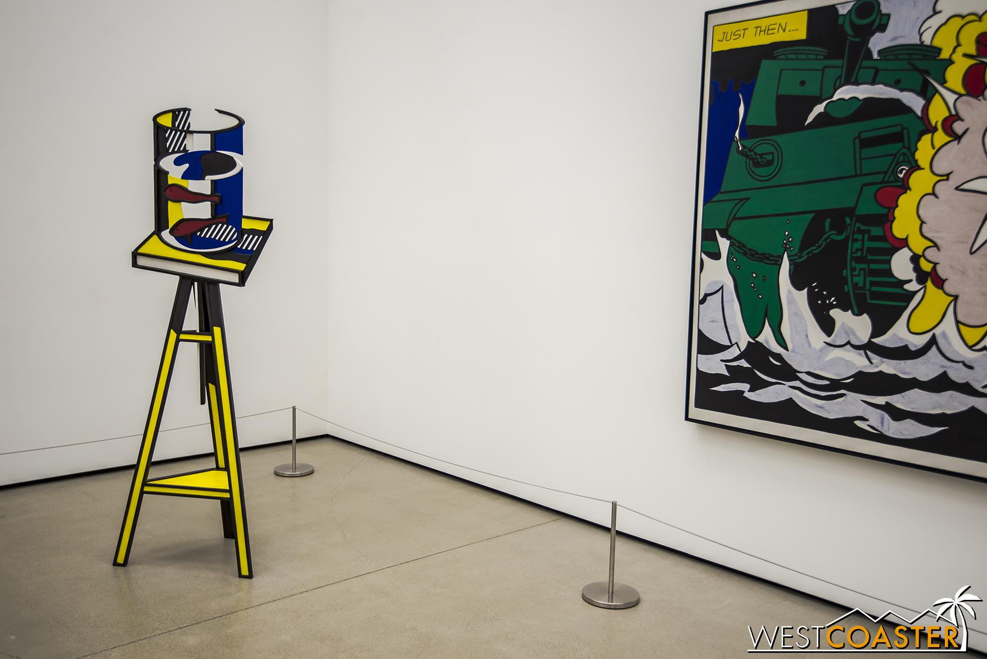 Roy Lichtenstein's  Goldfish Bowl  on the left.
