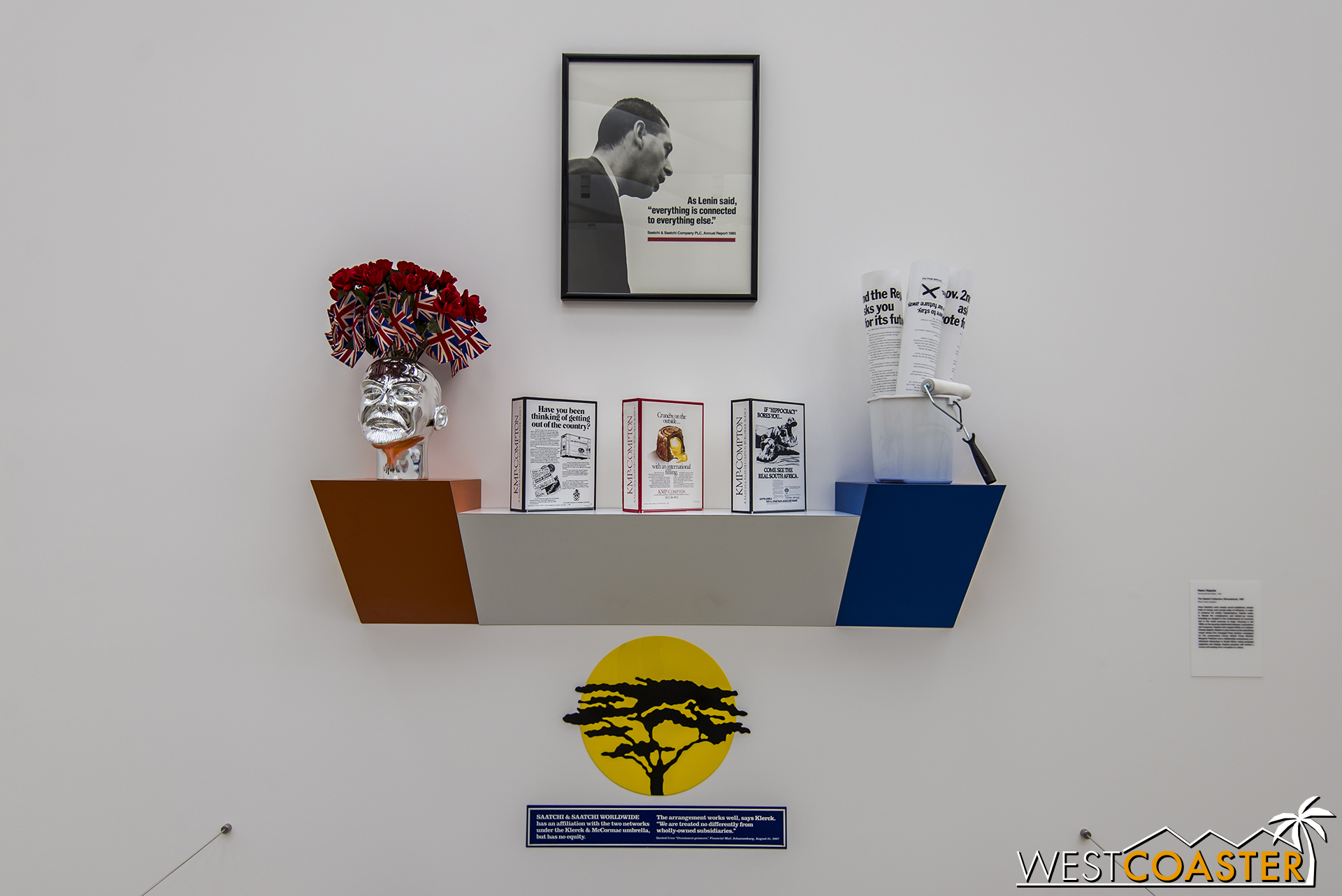 Hans Haacke's  The Saatchi Collection (Simulations) .